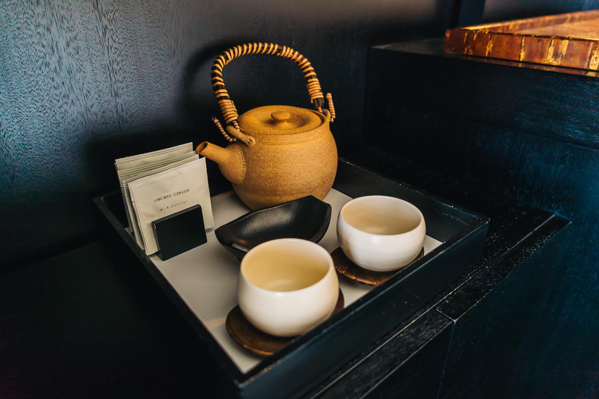 WE LOVE HAVING GREEN TEA IN THE MORNINGS