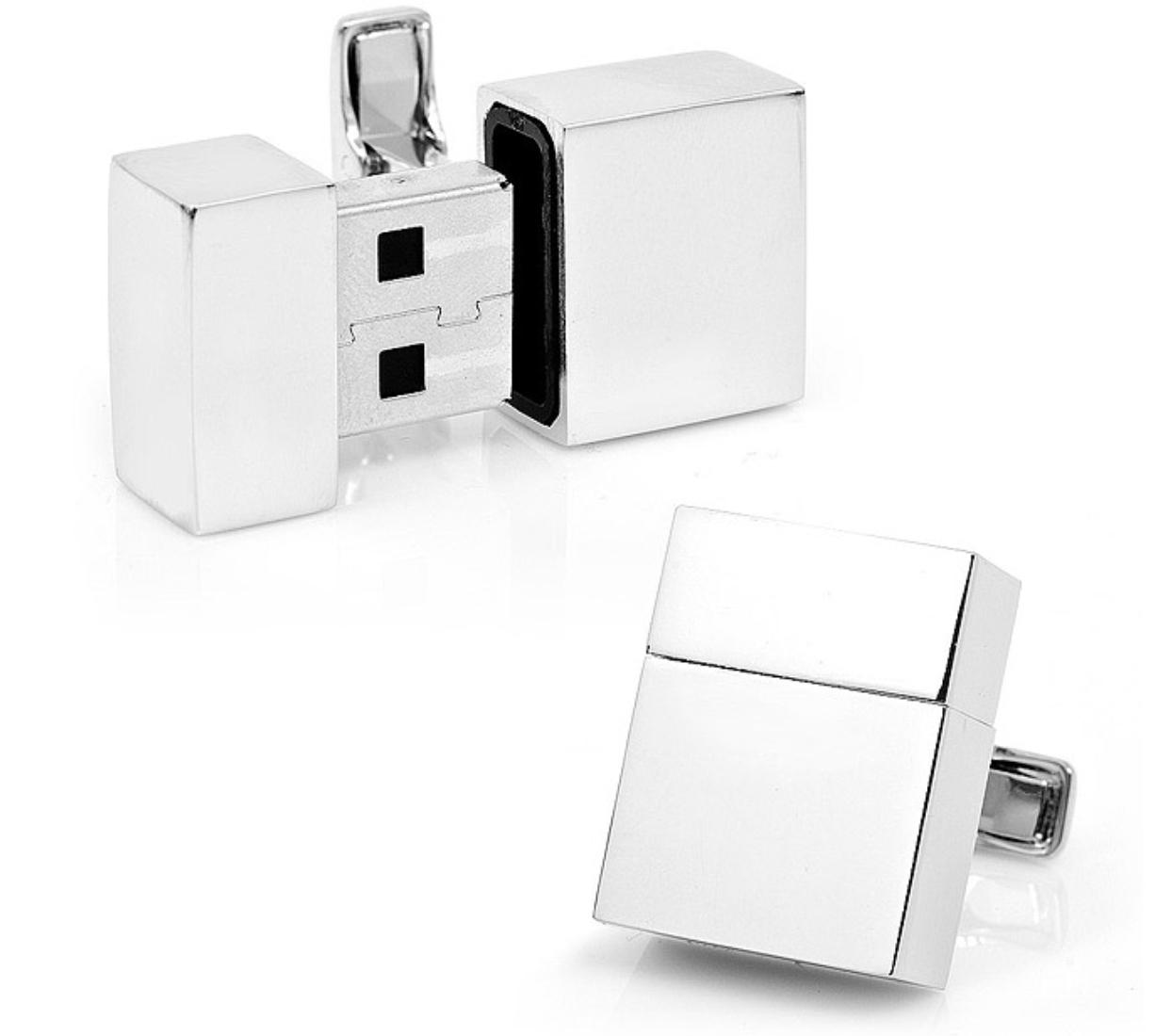 SILVER USB CUFFLINKS