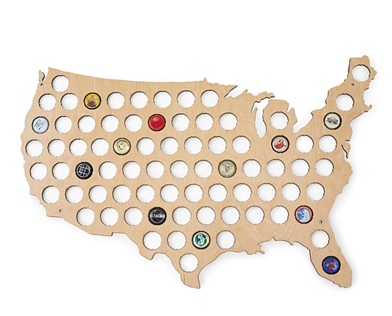 BEER CAP MAP USA