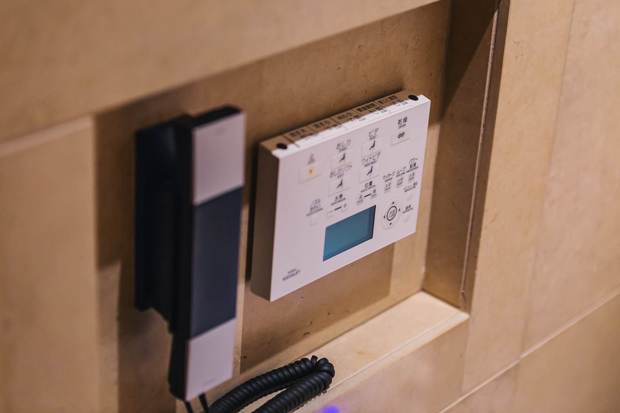 The high-tech toilet buttons. So many options for your toilet needs!