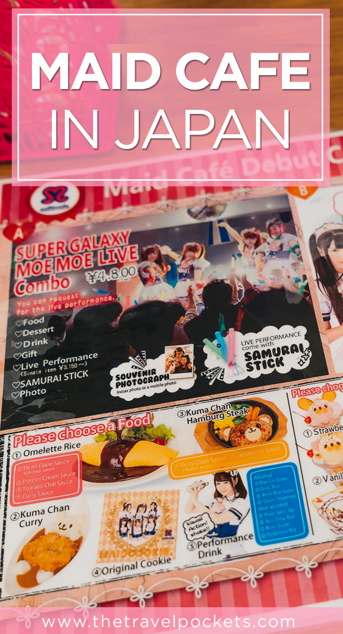 PINTEREST Maid Cafe + www.thetravelpockets.com