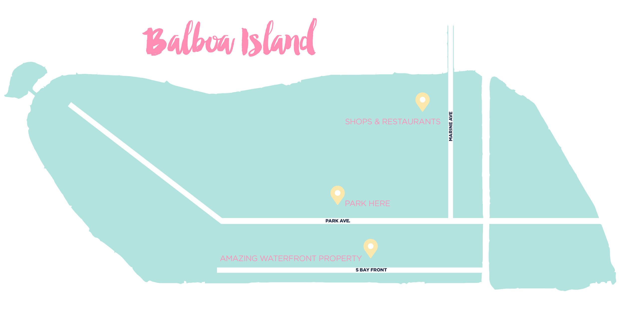 BALBOA ISLAND MAP x www.thetravelpockets.com