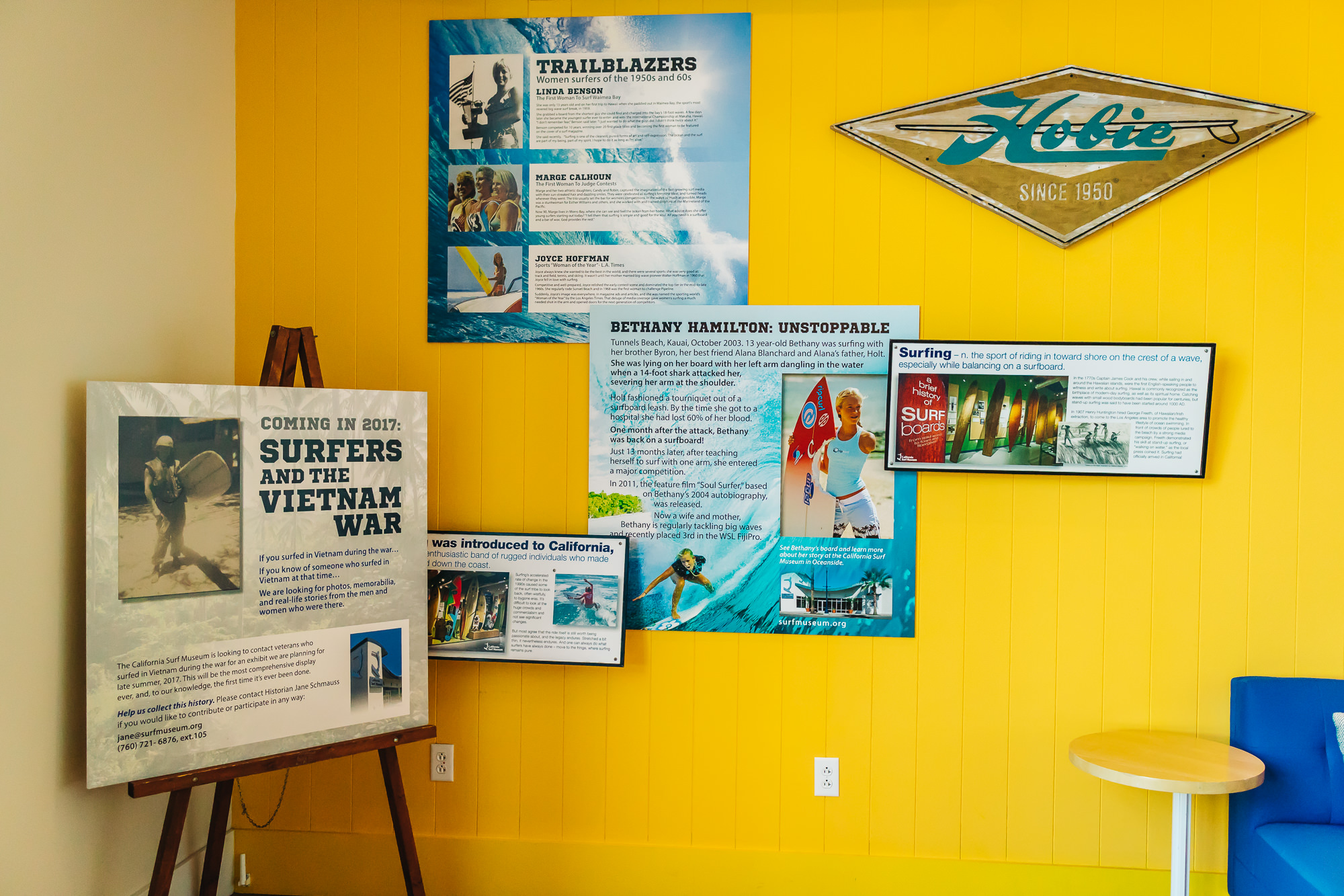 """MINI MUSEUM INSTALLATION BY """"  SURF MUSEUM  """"."""