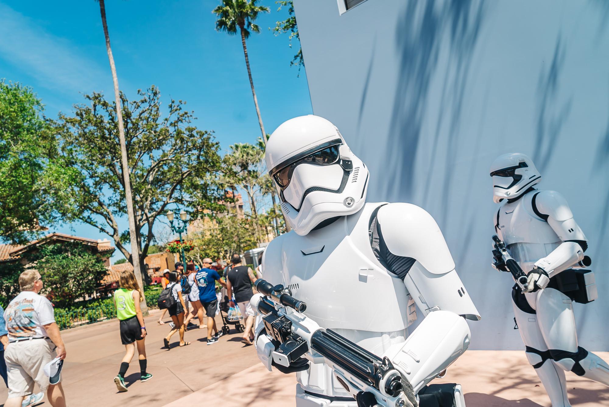 Storm Troopers patrolling Hollywood Studios