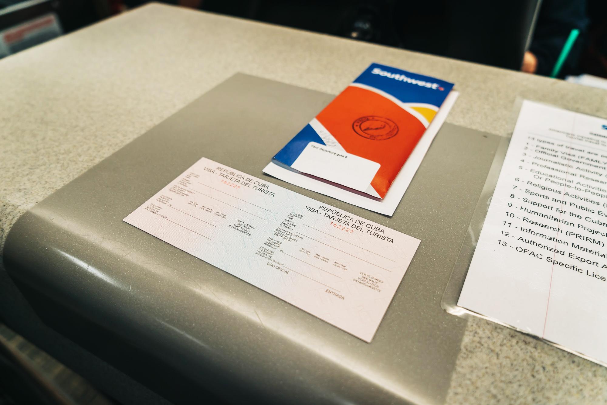 Visa documentatino for Cuba