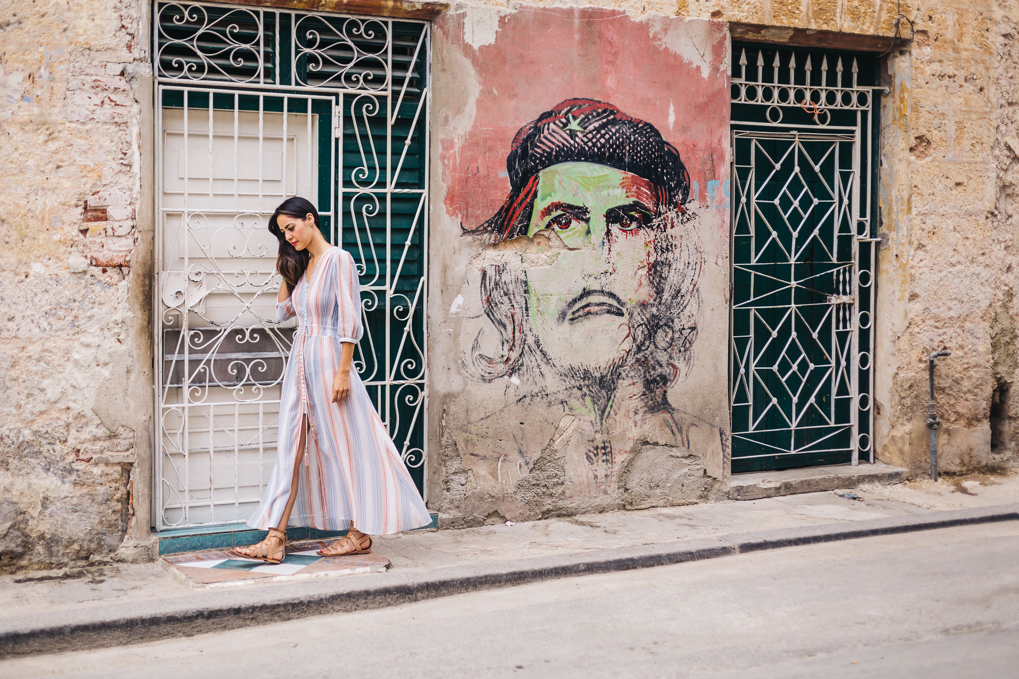 Drawings of Che are all over Havana