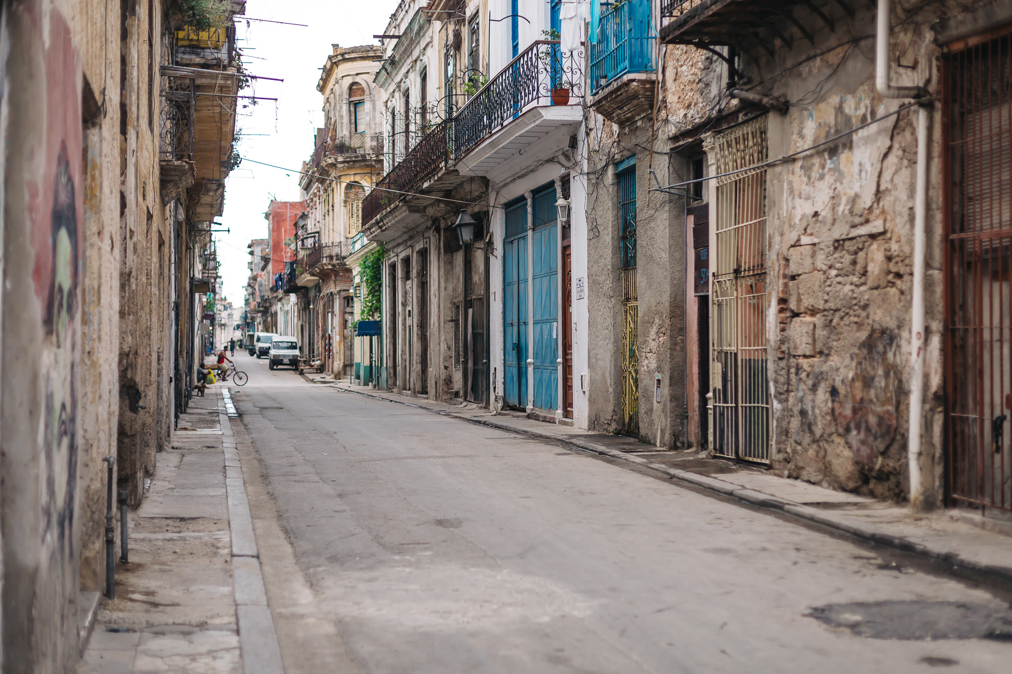 Typical streets of Old Havana outside of the tourist area