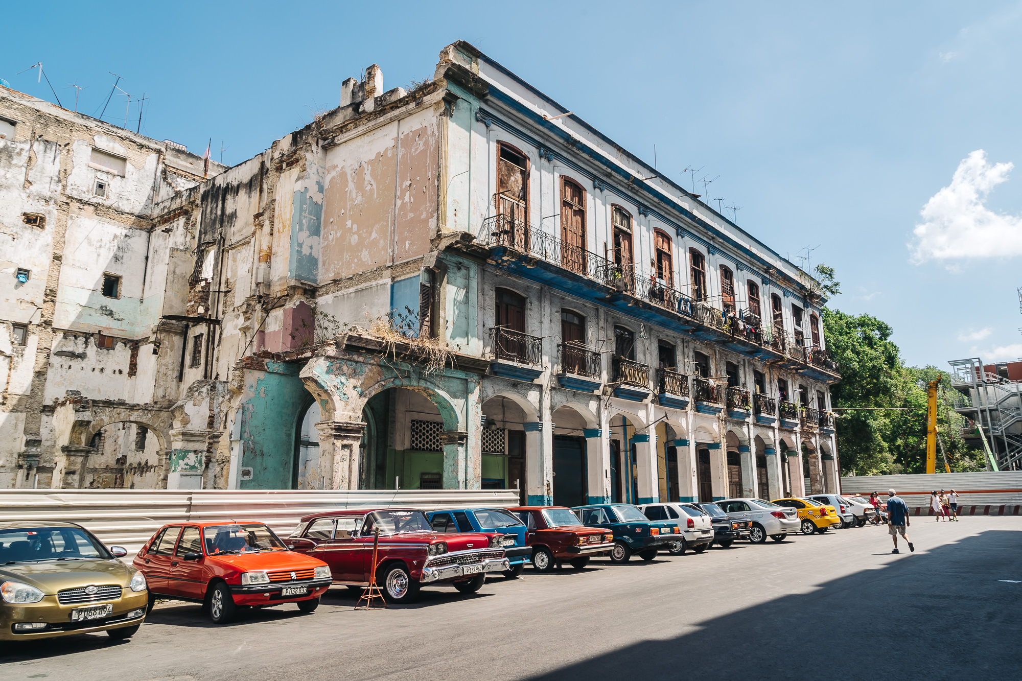 The buildings within the tourist locations are well kept, but once you step outside of the tourist zone, you will see many run-down buildings like this