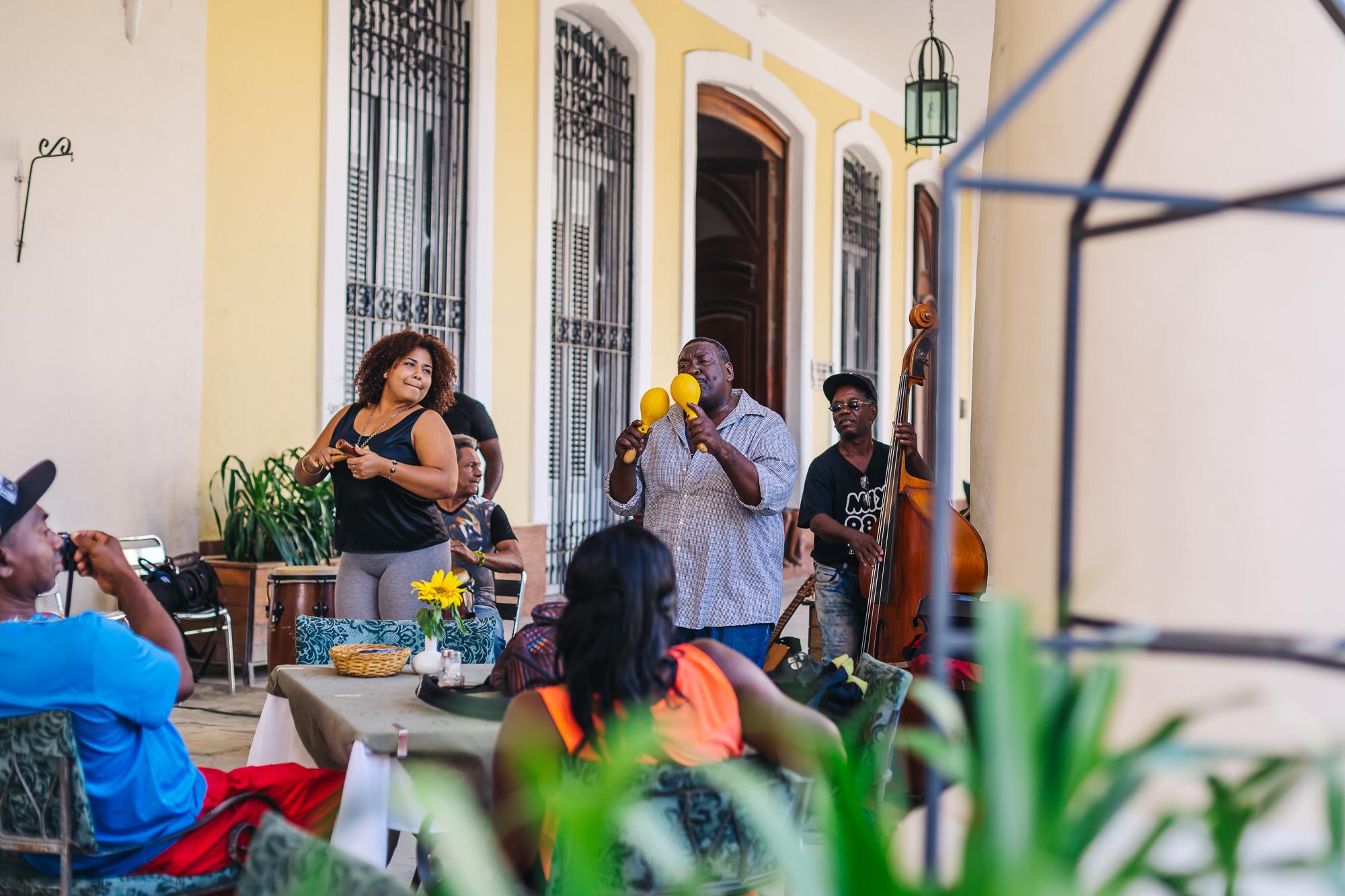 You hear music everywhere you go in Havana