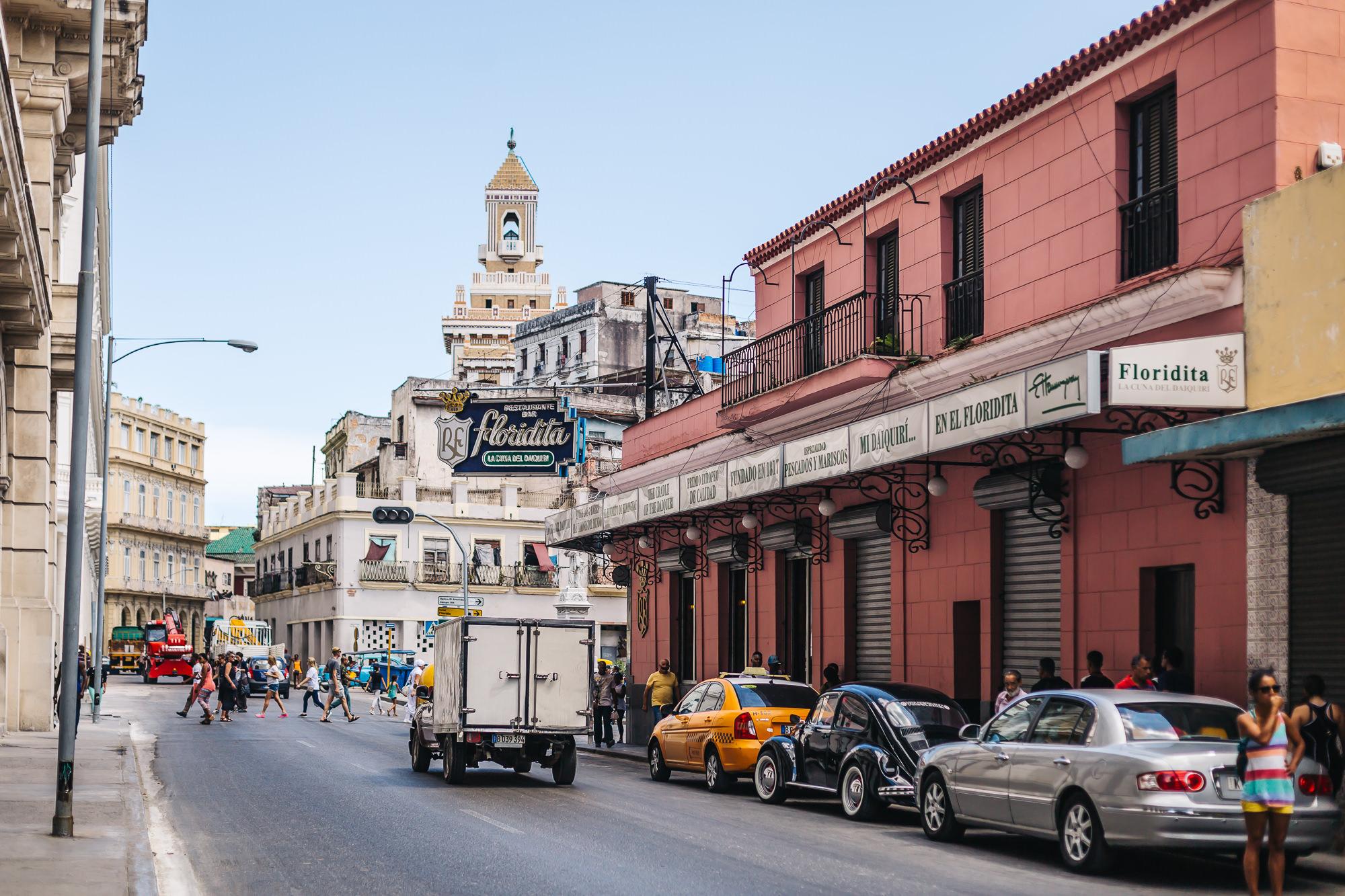 Floridita on the corner of Obispo and Monserrate streets
