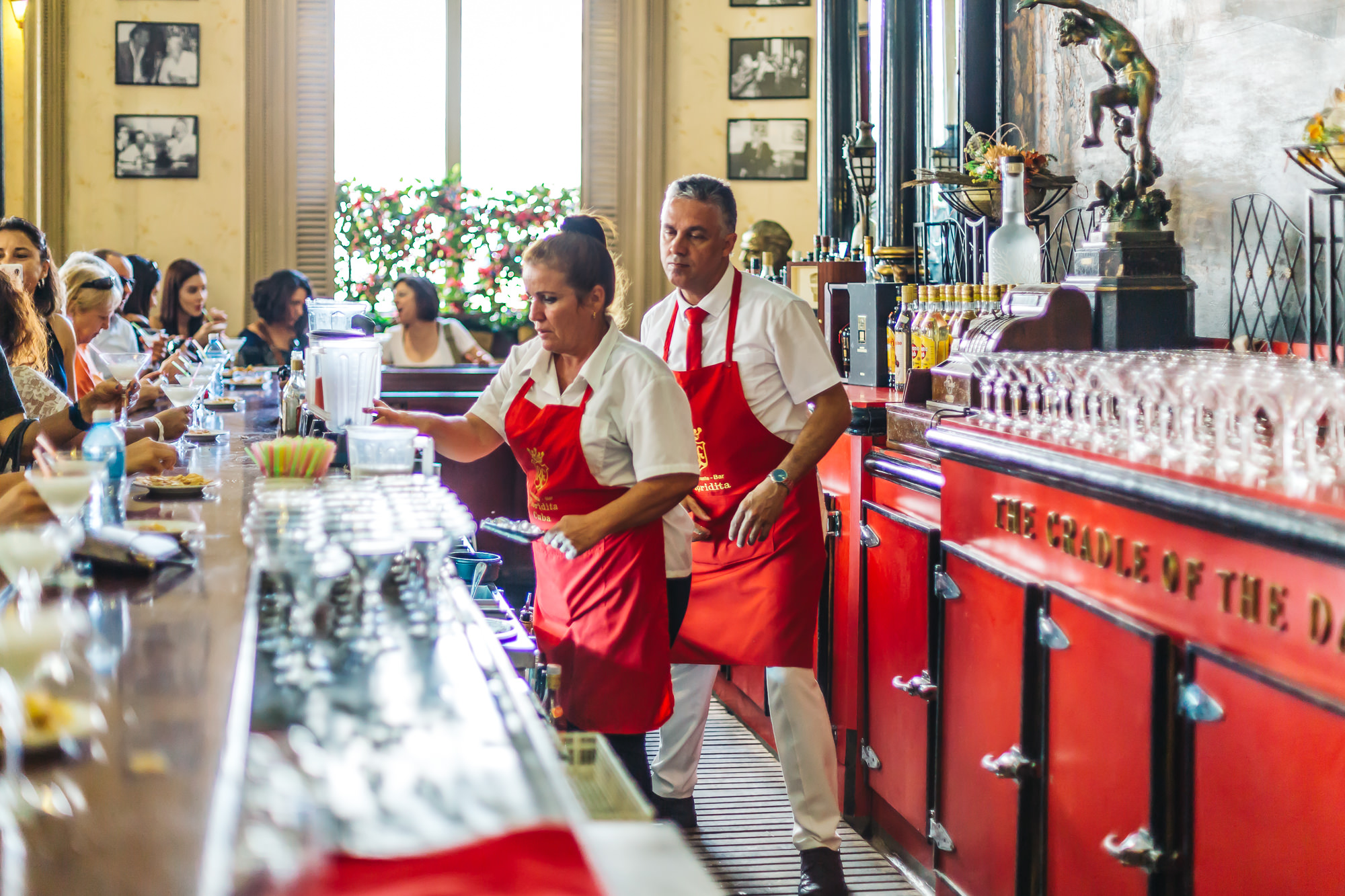 Floridita still preserves much of the atmosphere from the 1940s and 1950s