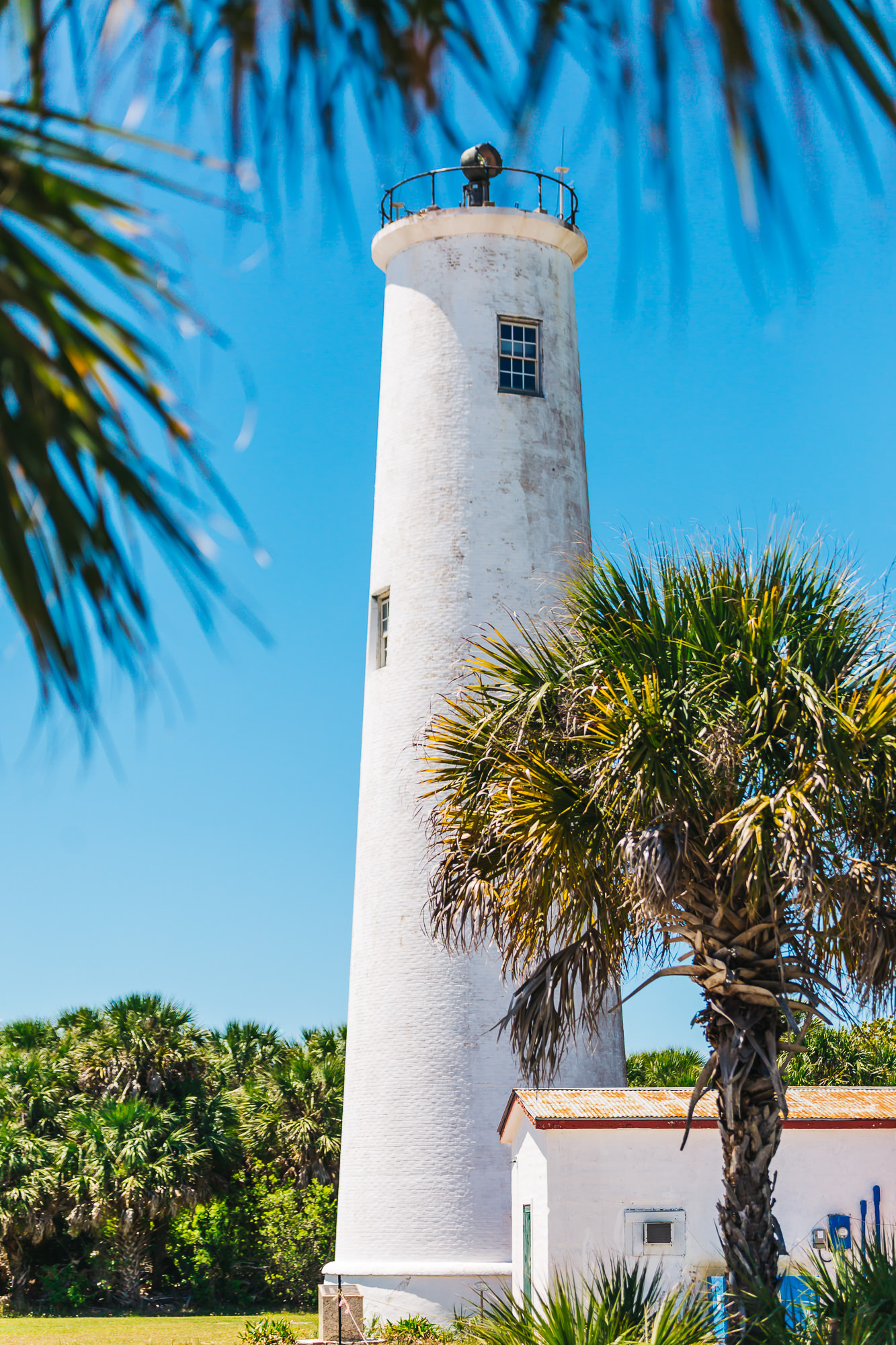 lighthouse, built in 1858, still guides water traffic in and out of Tampa Bay