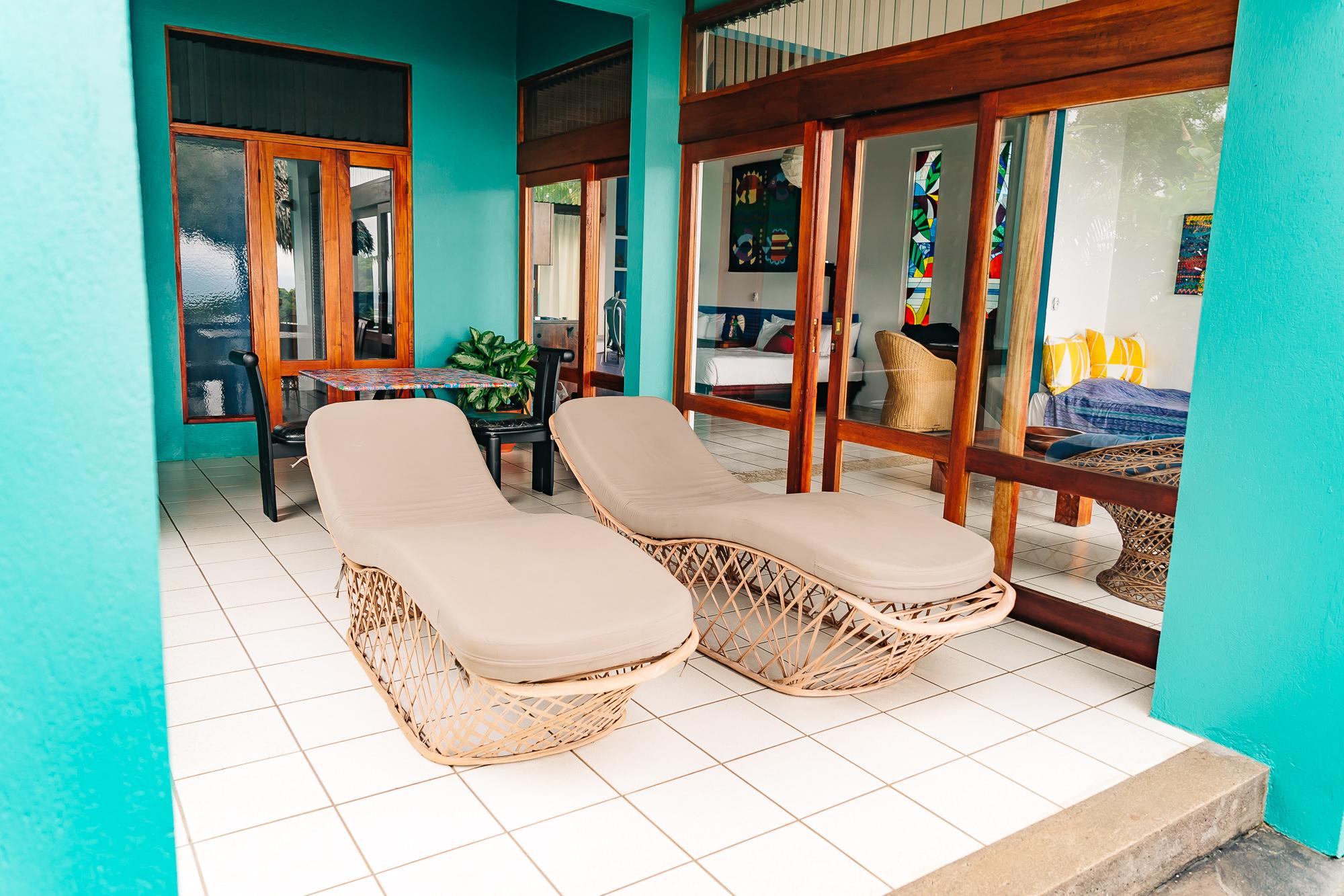 Oversized terrace of our villa at   Xandari Resort and Spa