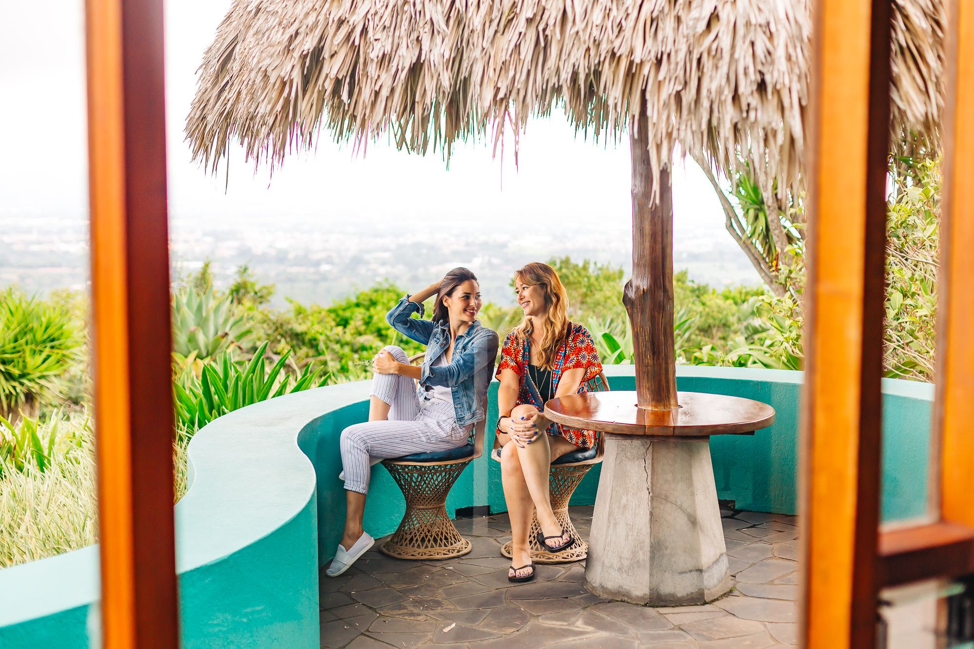 Ou terrace at   Xandari Resort and Spa  overlooking the Central Valley of Costa Rica