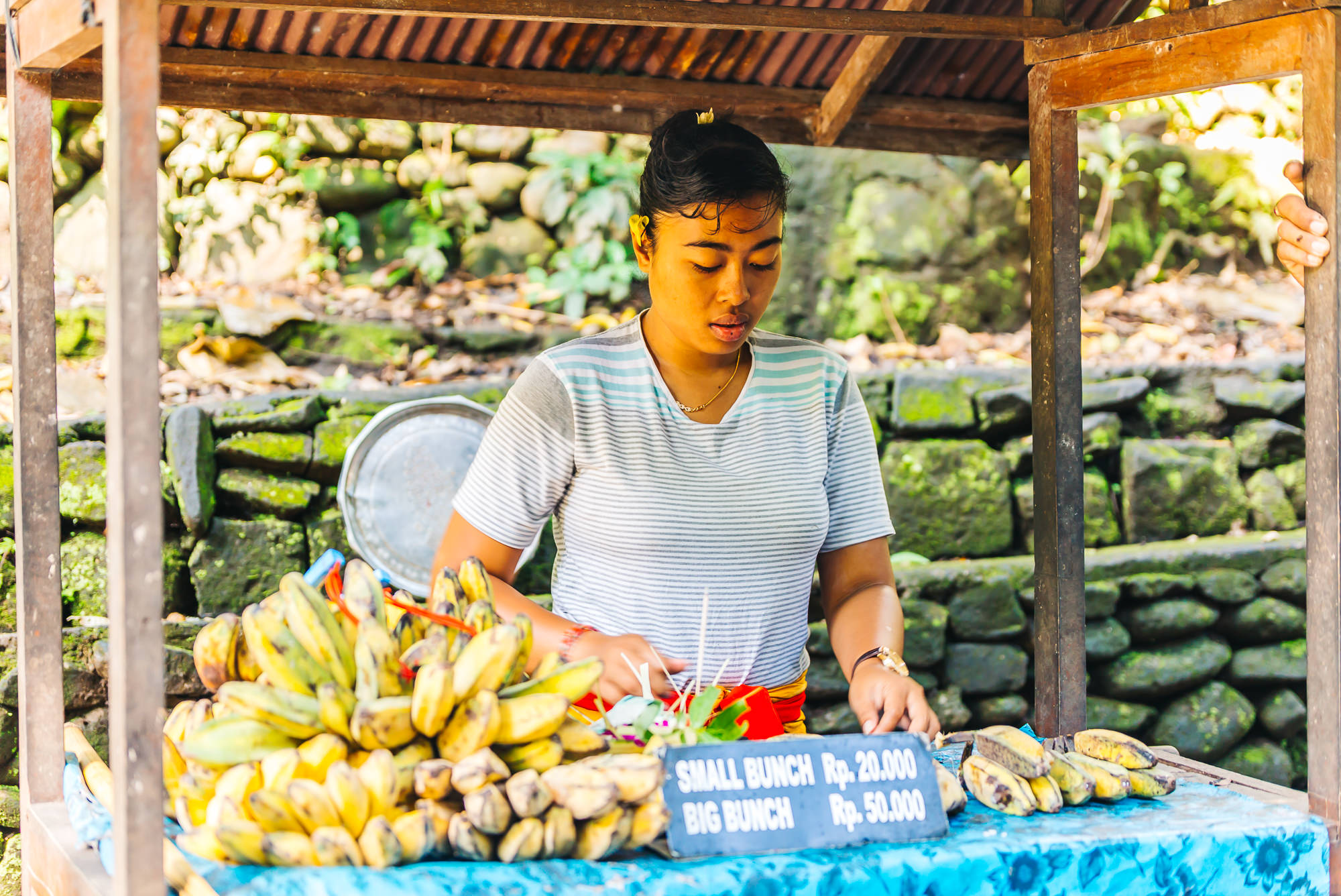 Buy bananas for the monkeys at the Sacred Monkey Forest