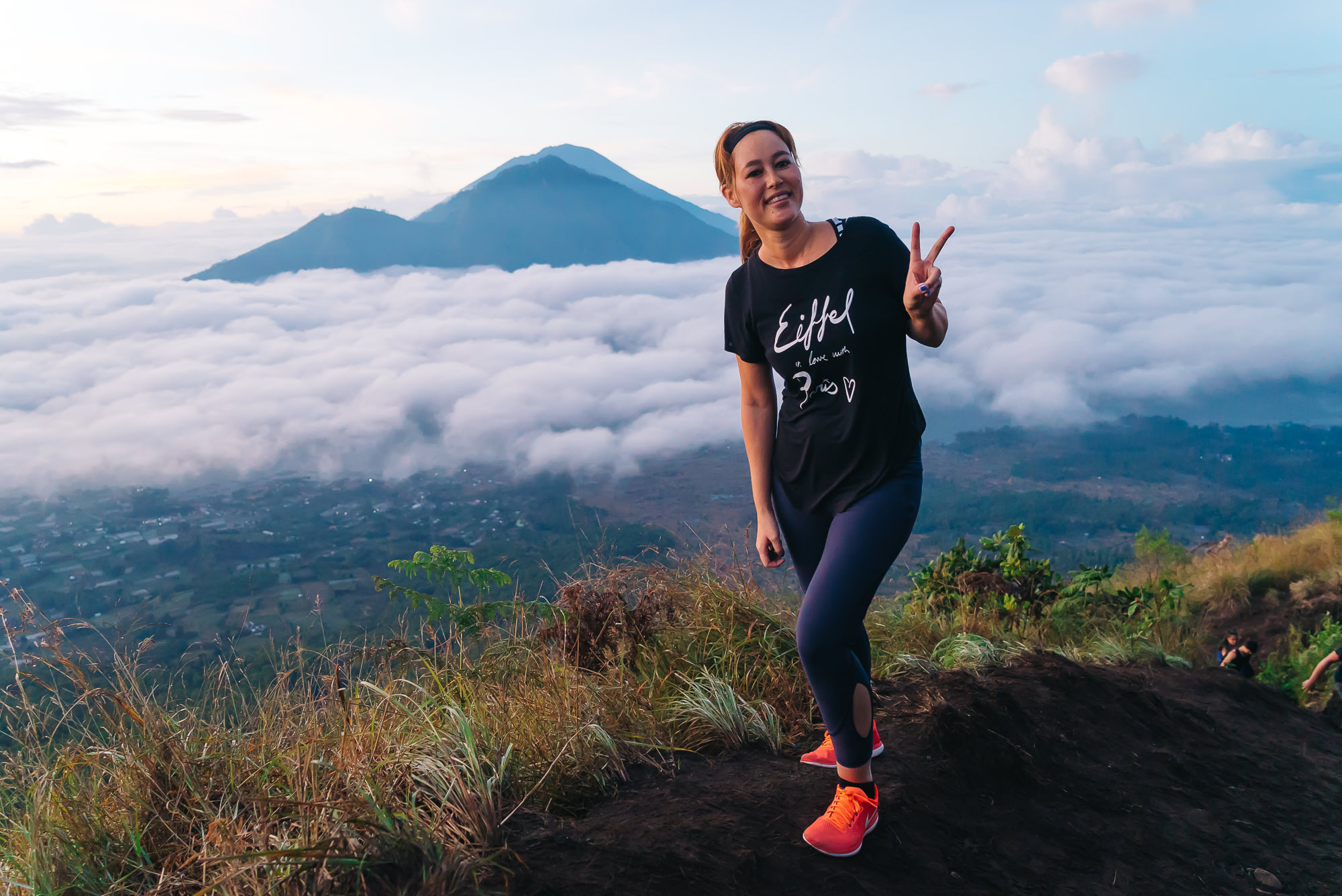 Catching the sunrise at   Mt Batur