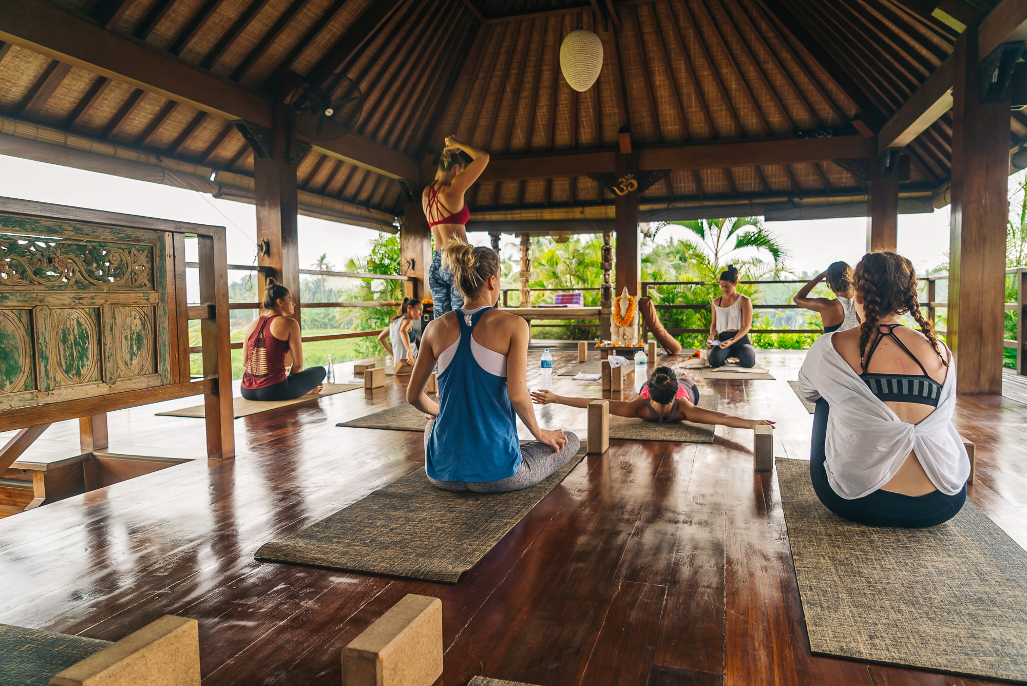 Starting the day in Bali with some yoga