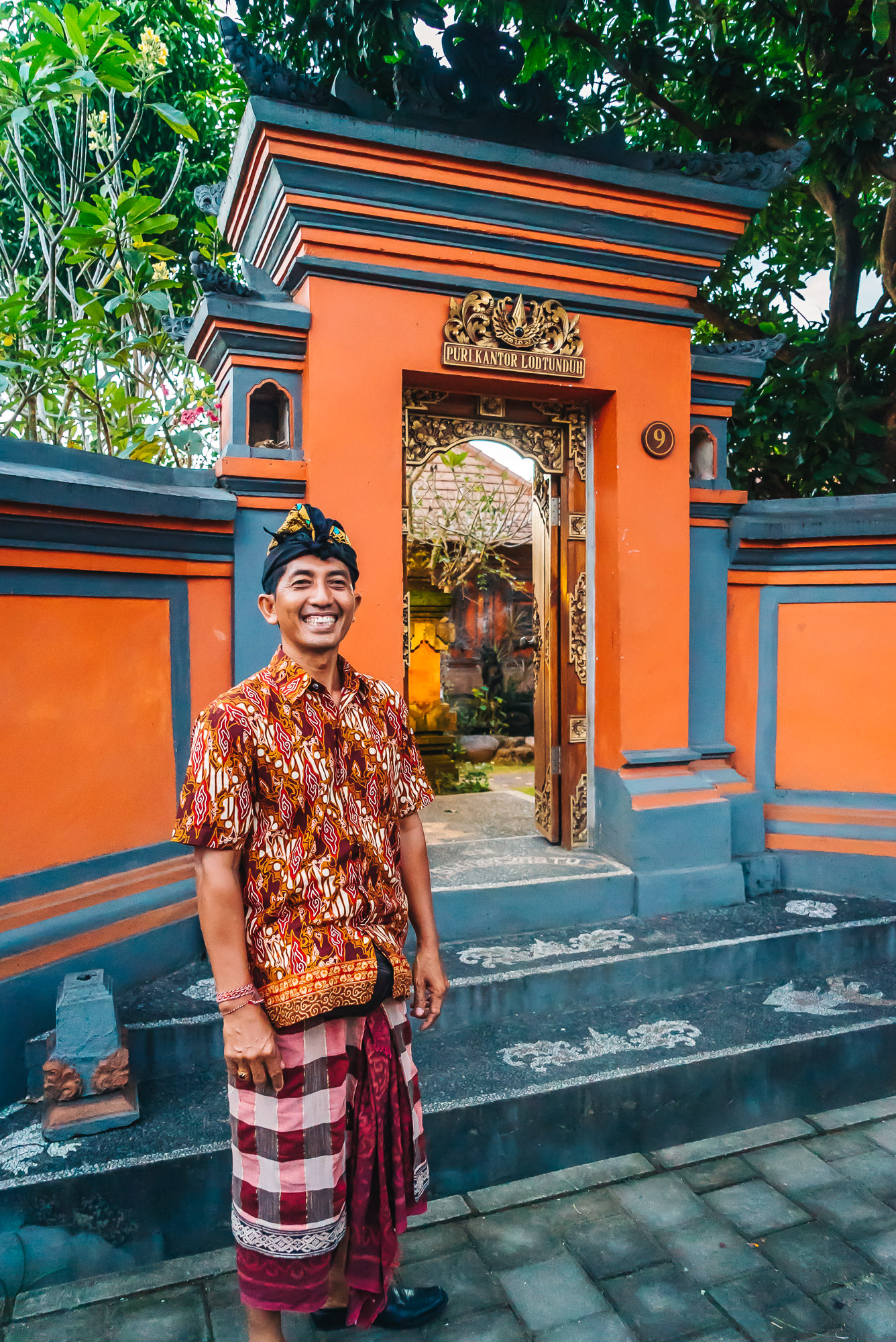 My new Balinese friend, Agung, in Ubud, Bali