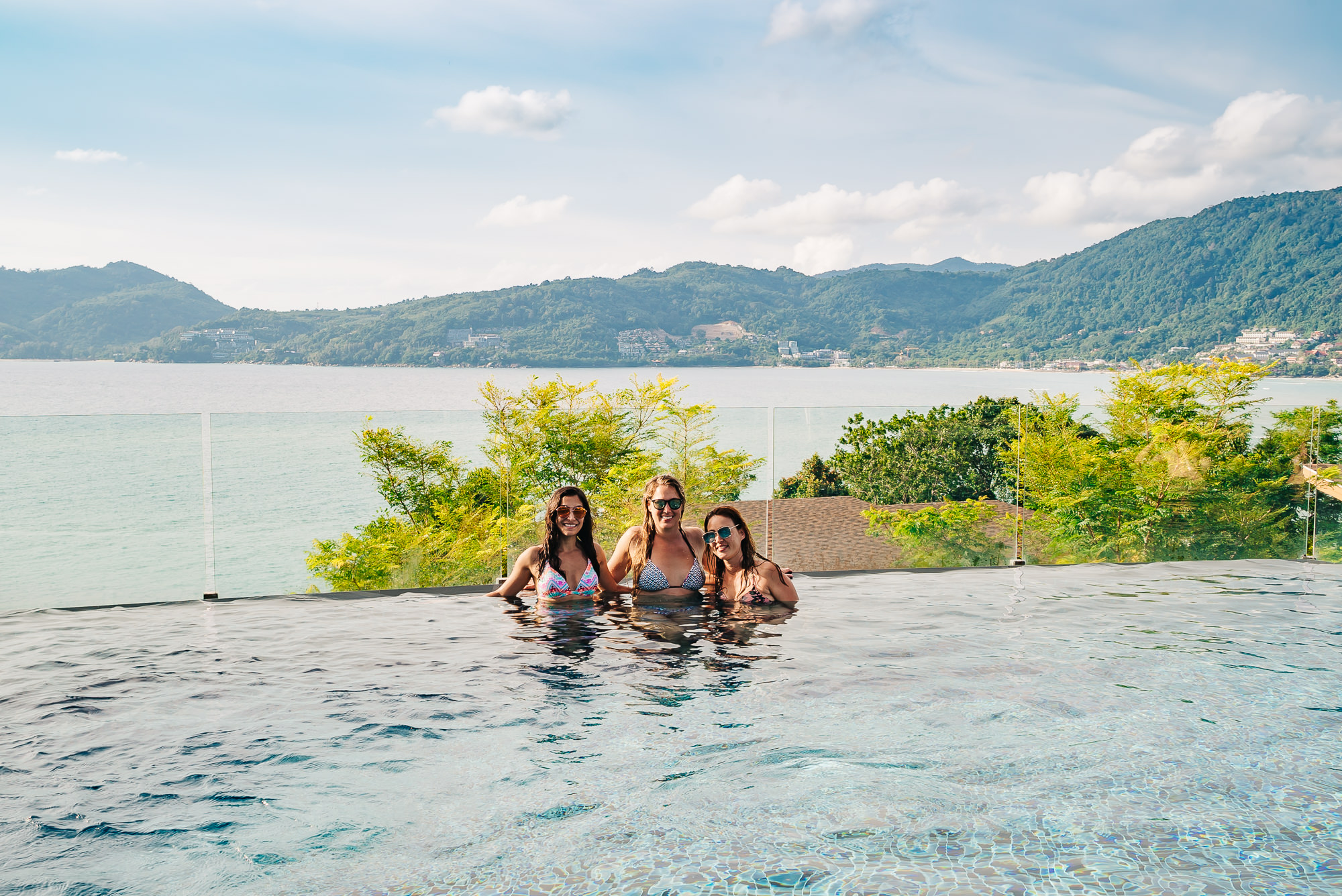 The beautiful infinity pool at the Clubhouse of Amari Phuket