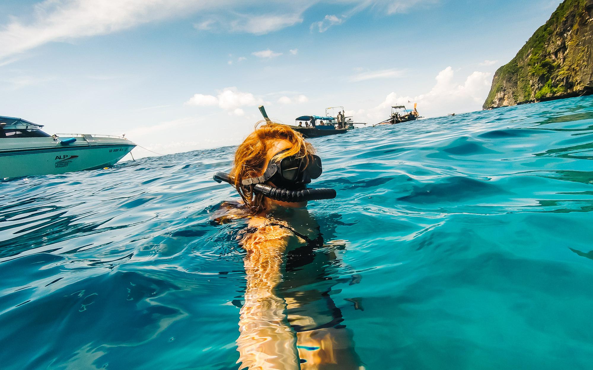 Struggling to snorkel
