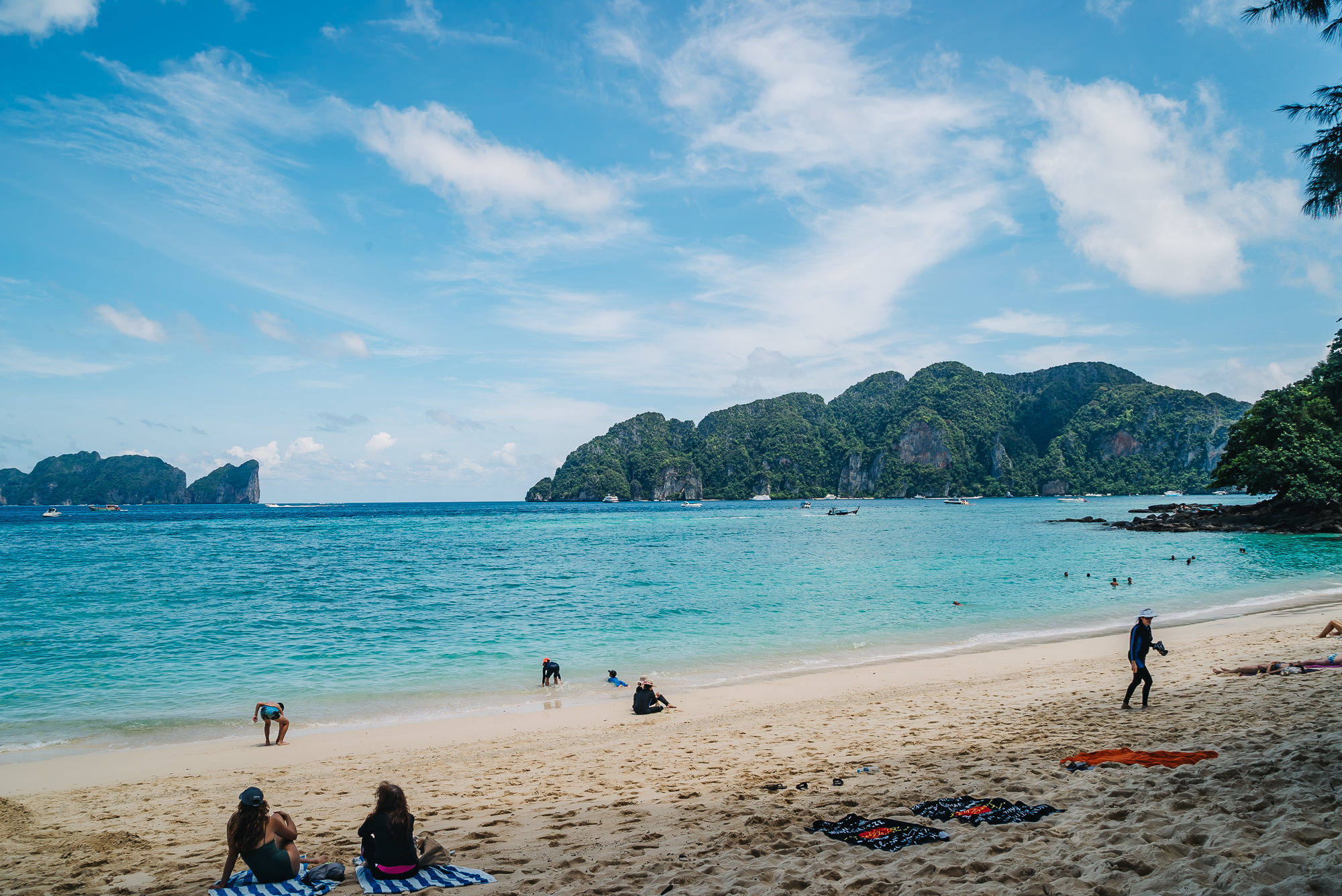 Relaxing beach stop of Phi Phi Islands