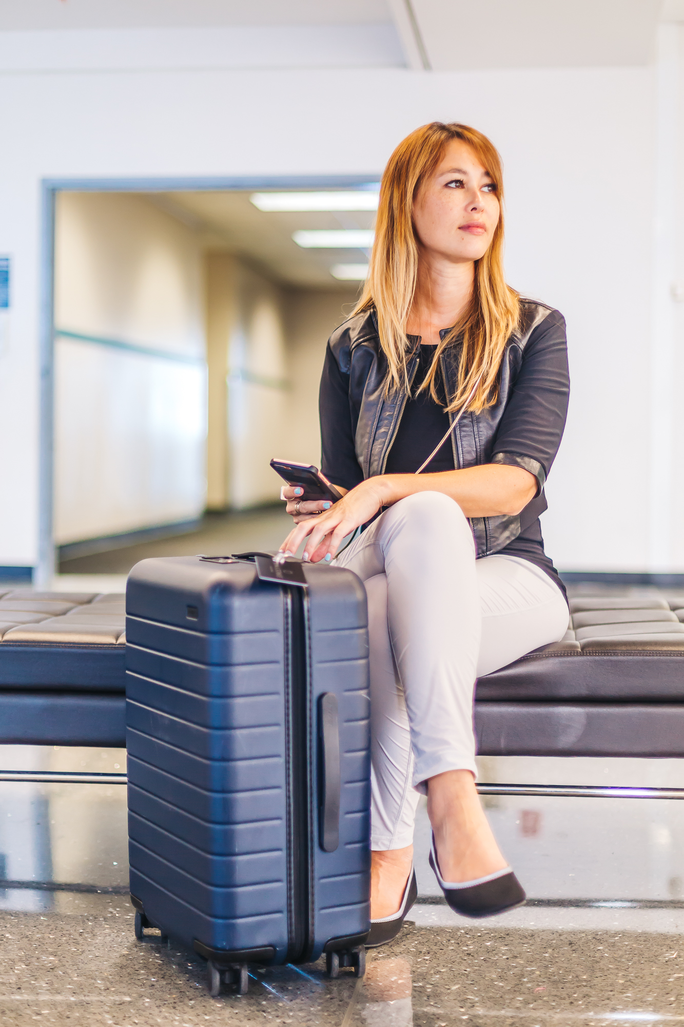 Luisa Pant  //  away suitcase  //  betabrand travel flats