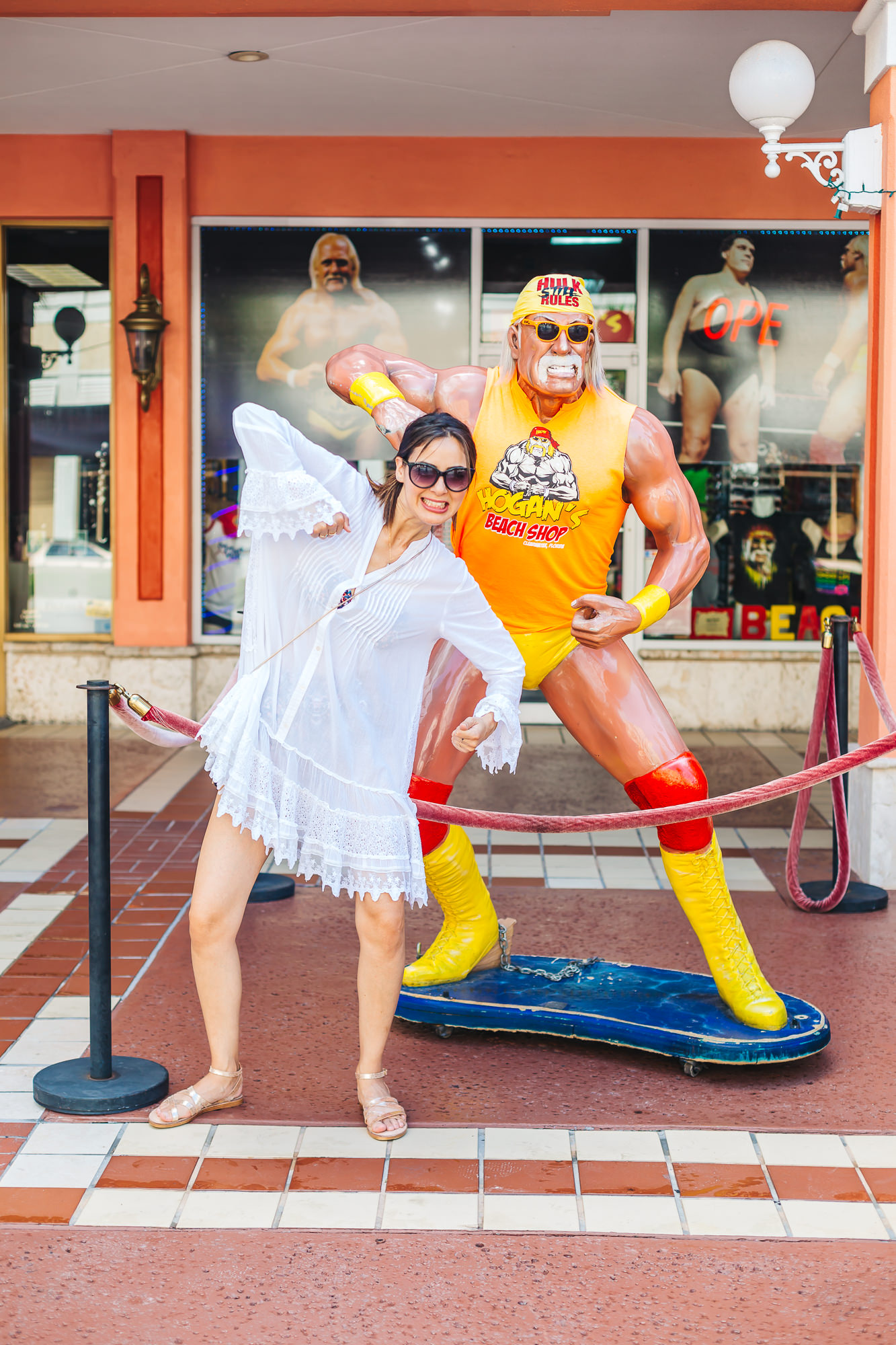 Great photo ops at Hogan's Beach Shop in Clearwater