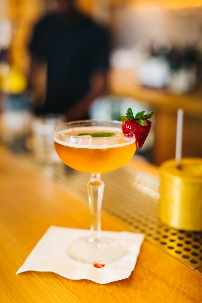 Fraise Plein Air- Strawberry Liqueur, Prosecco, Bitters