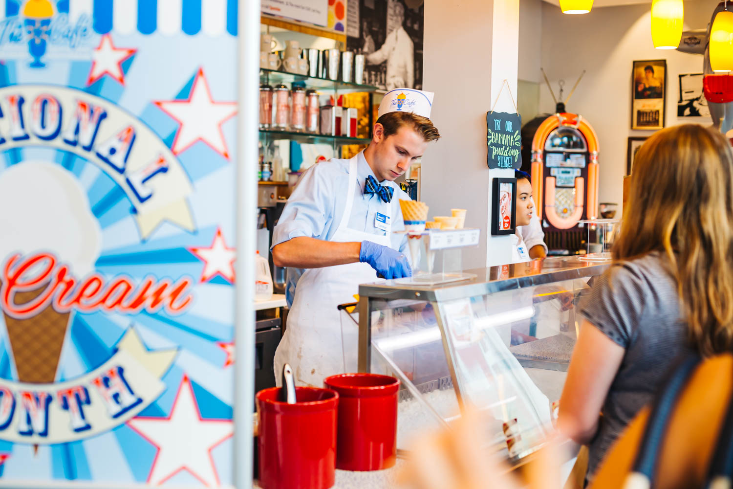 "Did you know that these guys were called ""Soda Jerks""? A soda jerk is a person who serves and sells soft drinks and ice cream at a soda fountain."