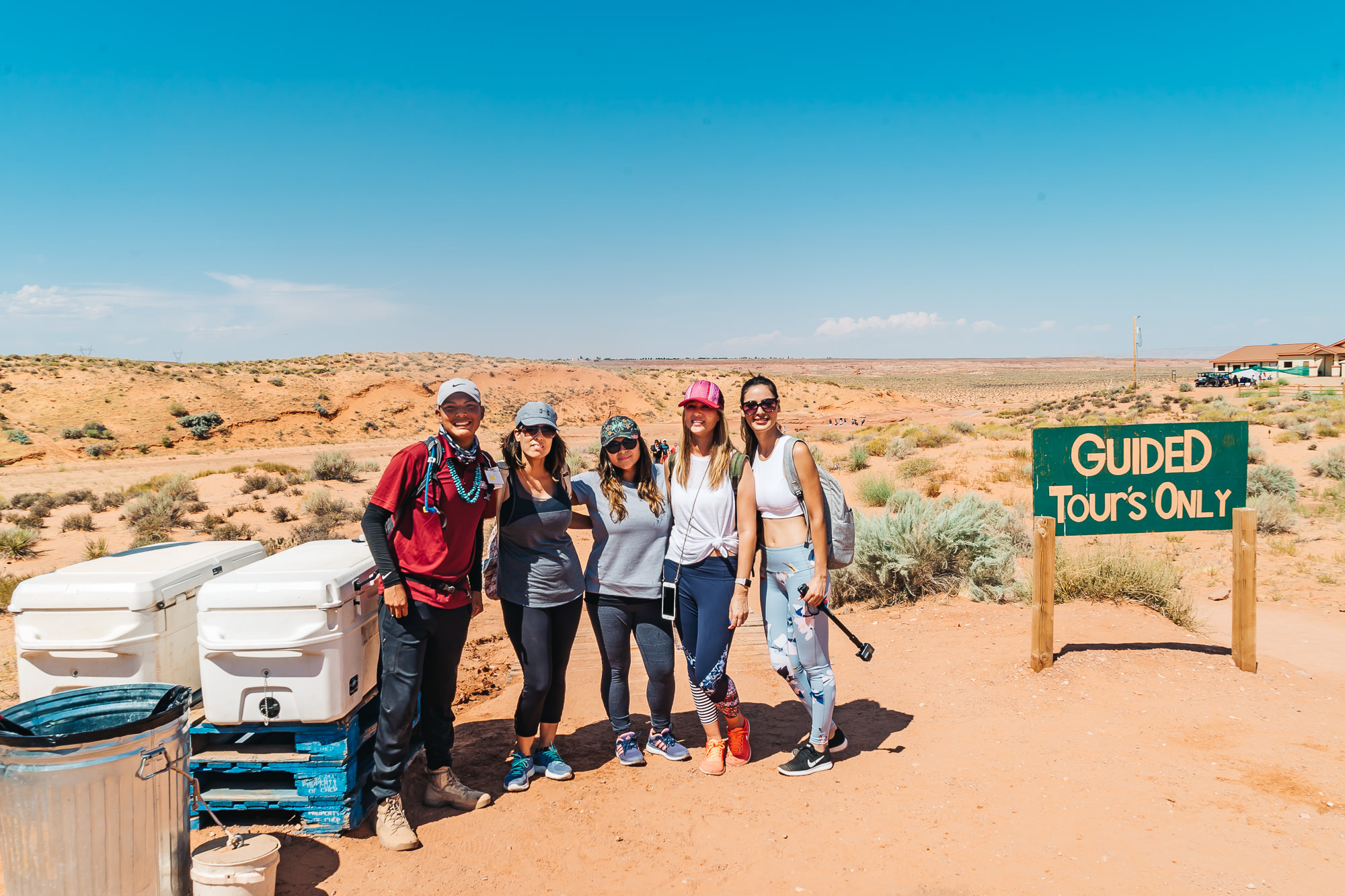 Our awesome tour guide, Garrisson, with   Dixie Ellis' Lower Antelope Canyon Tours