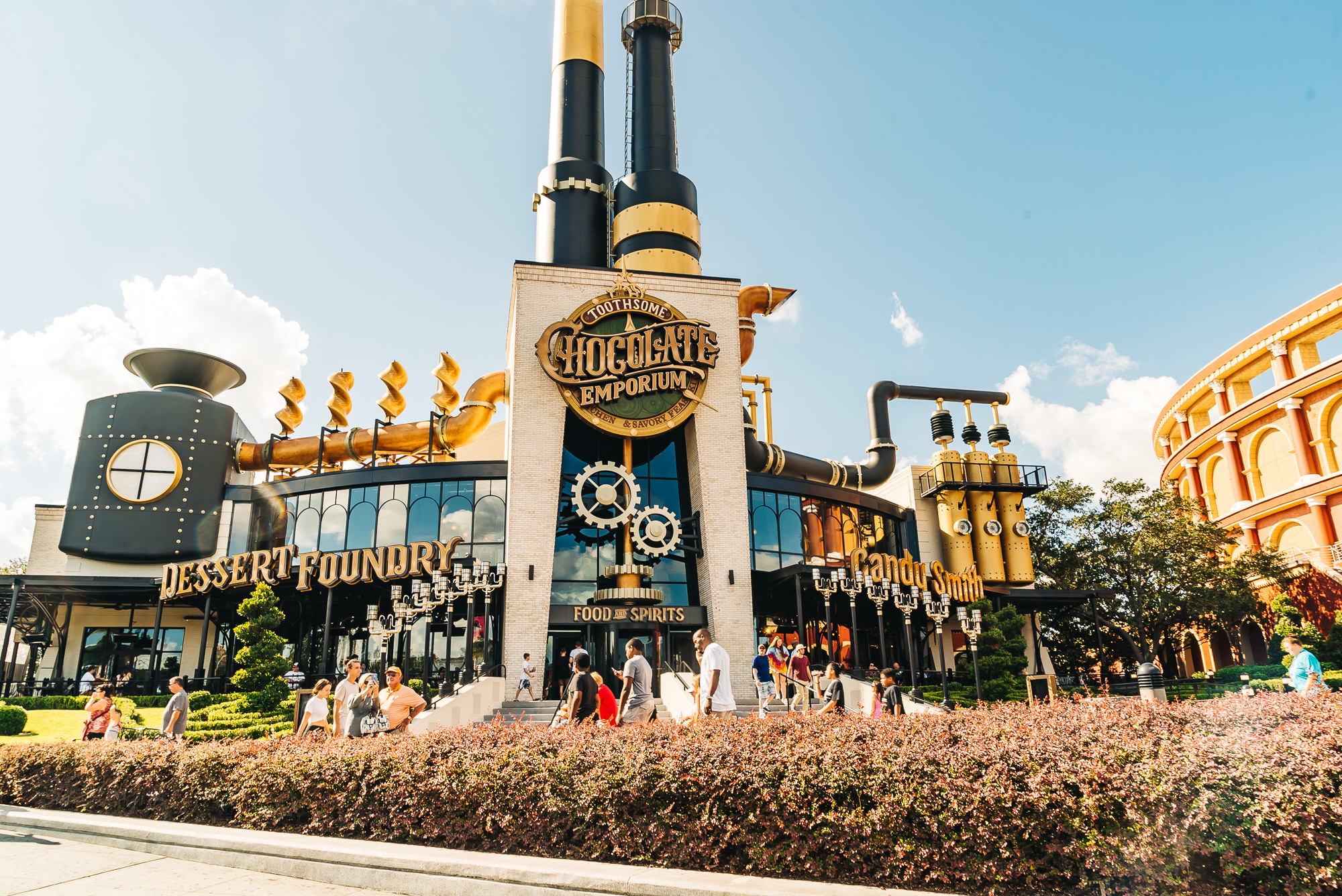 The amazing Chocolate Emporium restaurant at Universal Resort Orlando