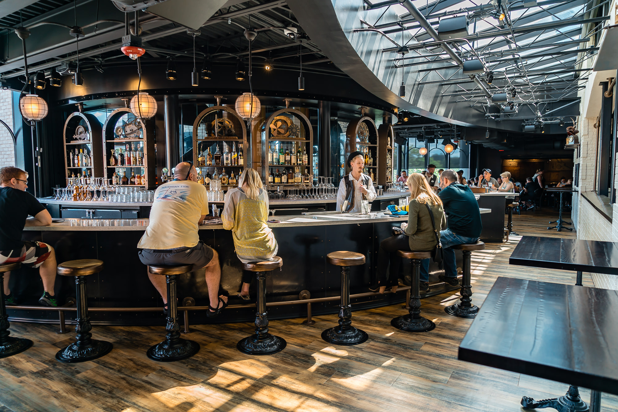 The gorgeous bar upstairs at the Chocolate Emporium