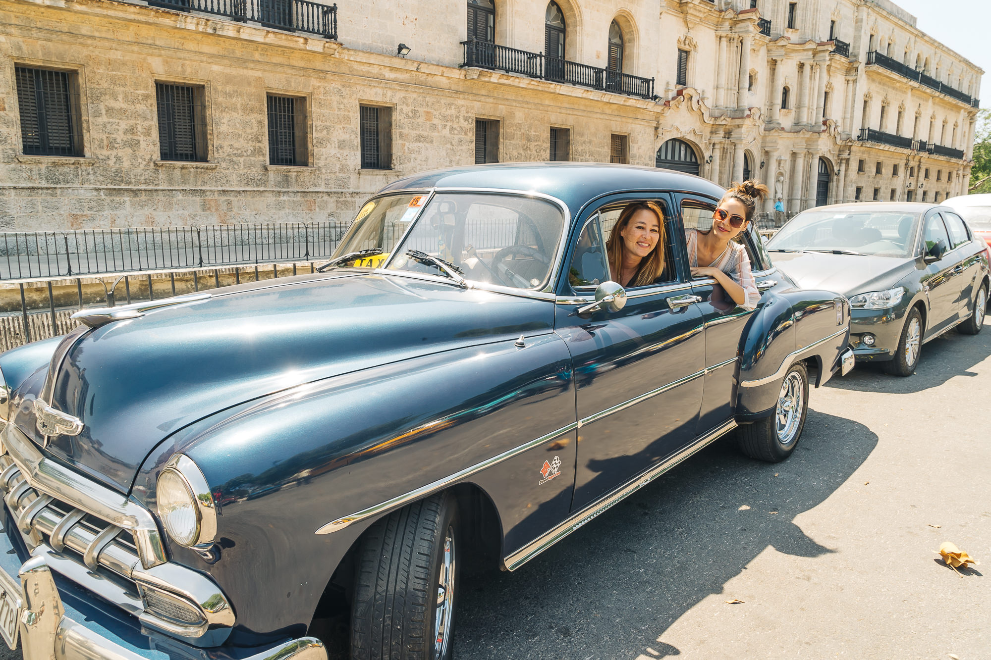 The car we rode in during our Havana, Cuba tour