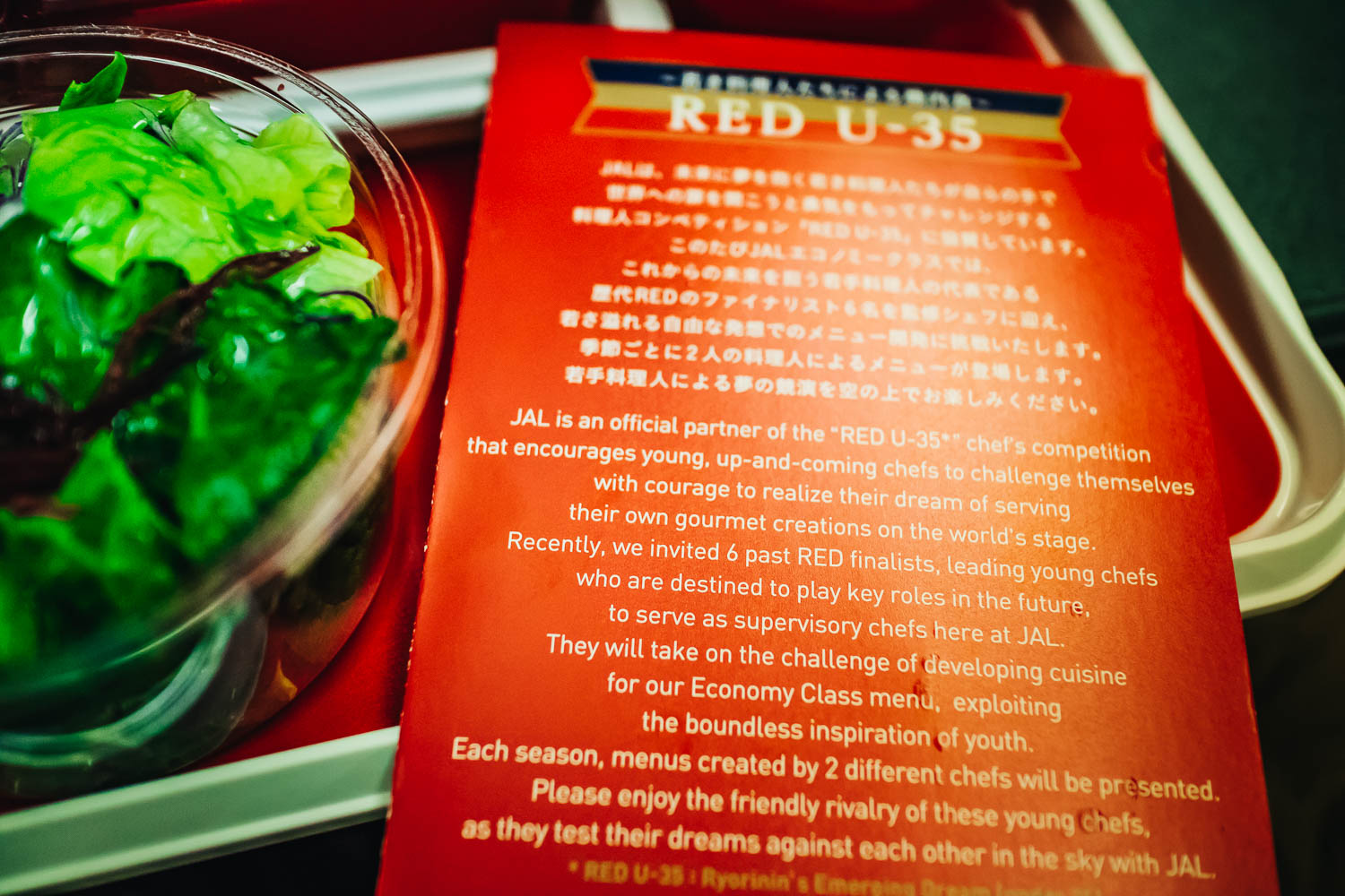 RED U-35 JAL MENU
