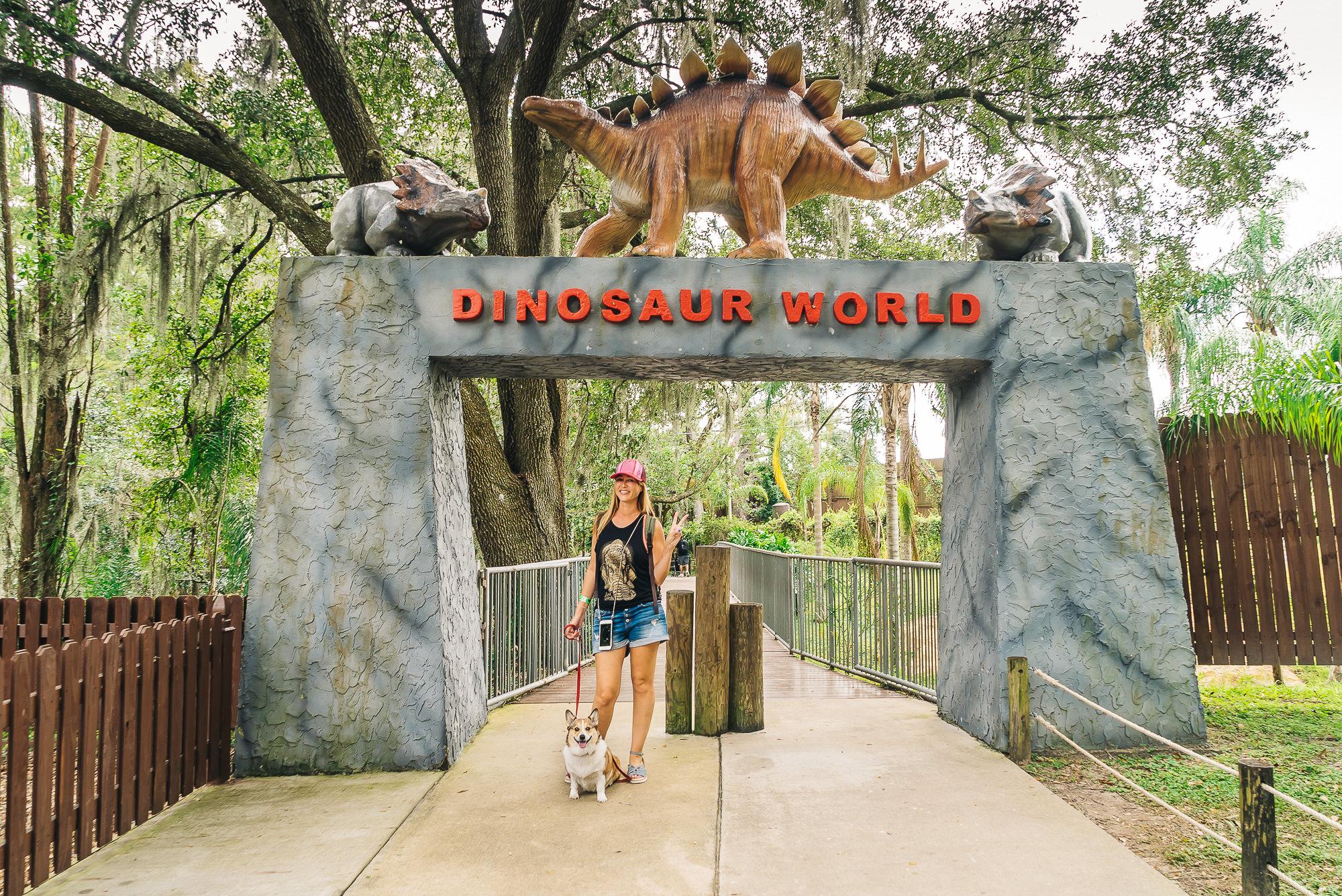 Pet-friendly Dinosaur World in Plant City, Florida