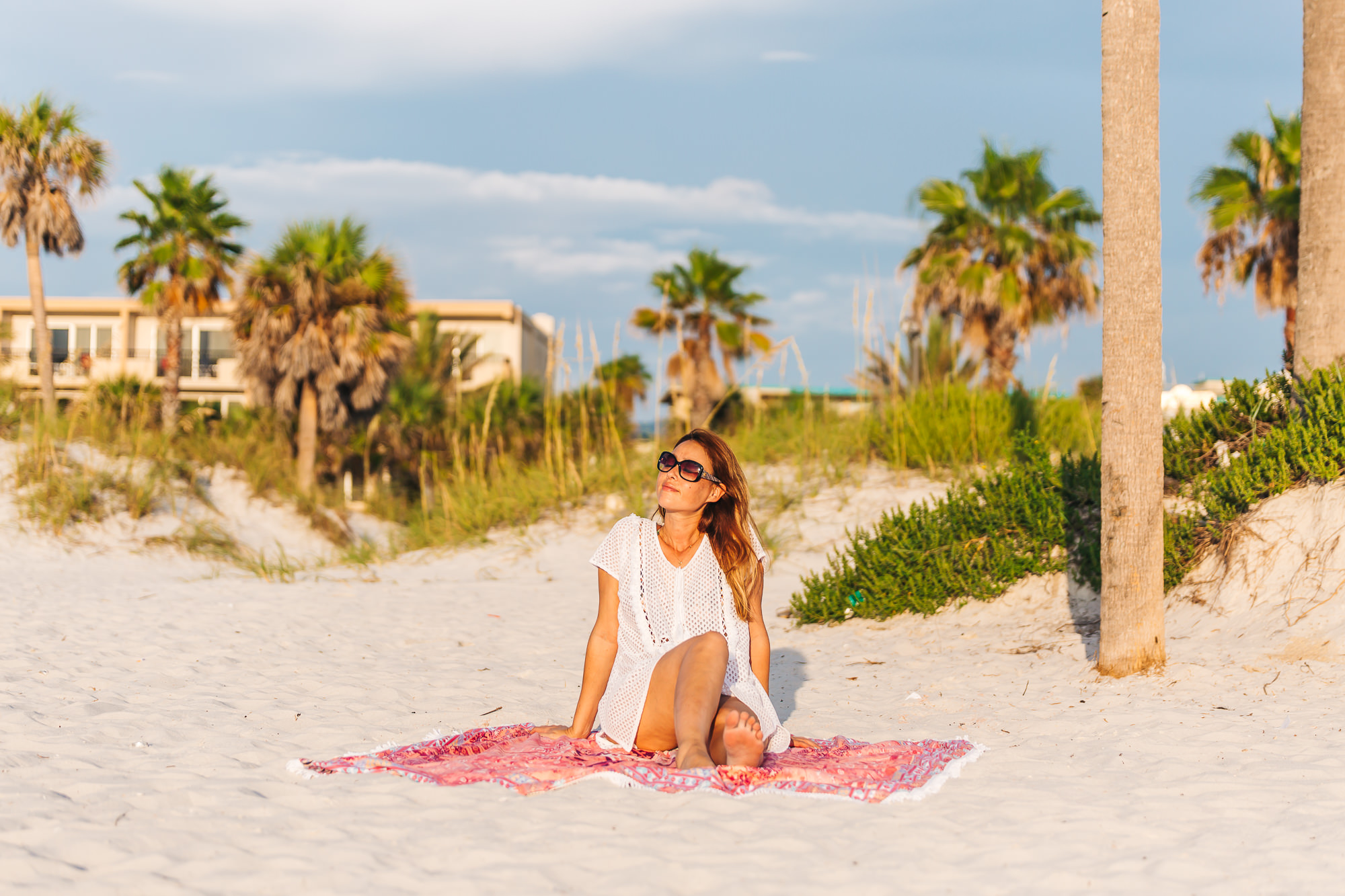 Soaking in the sun at Clearwater beach