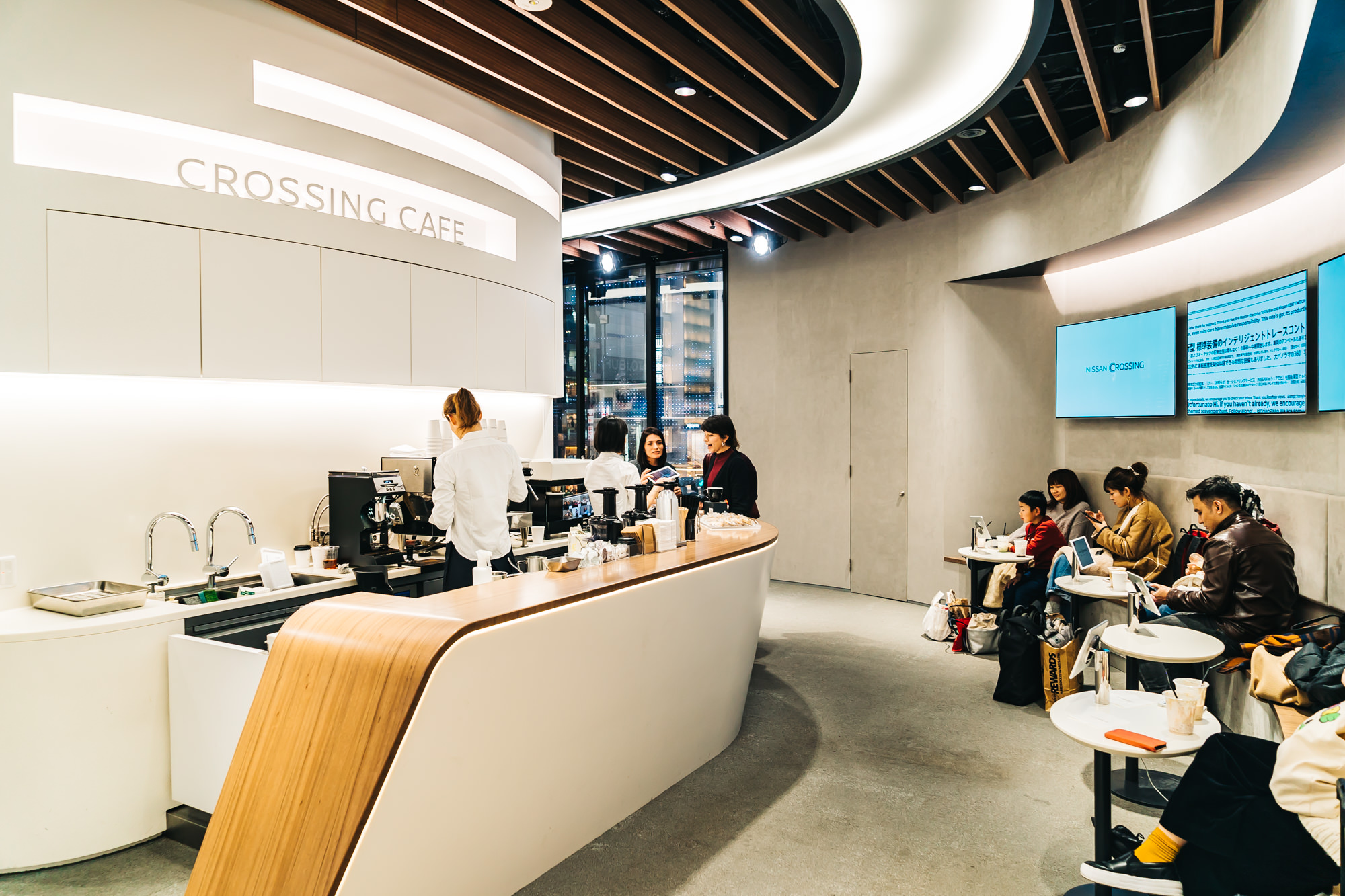 NISSAN CROSSING CAFE ON THE 2ND FLOOR