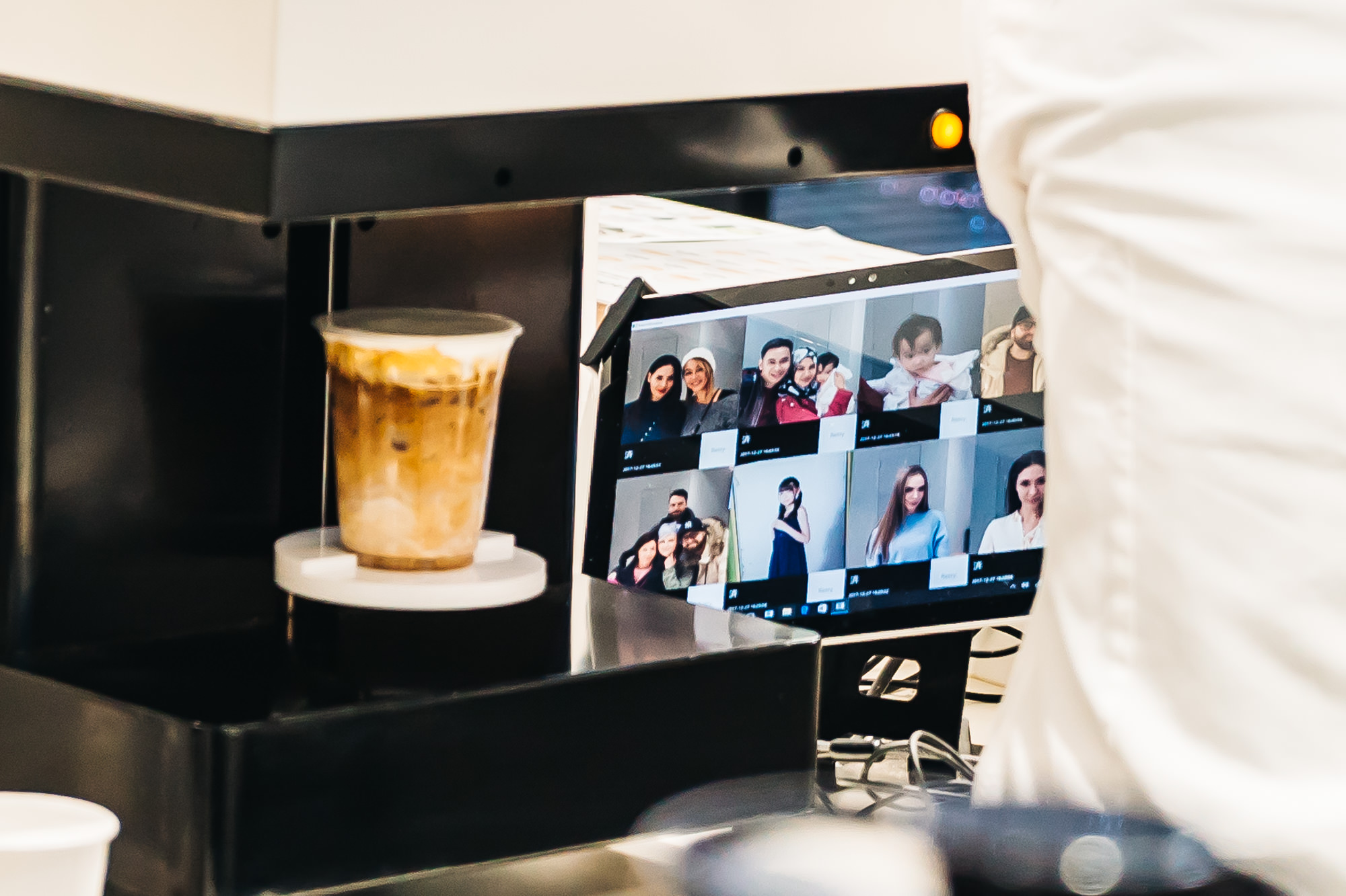 THERE'S OUR PICTURE THAT'S ABOUT TO BE PRINTED ON OUR COFFEE!