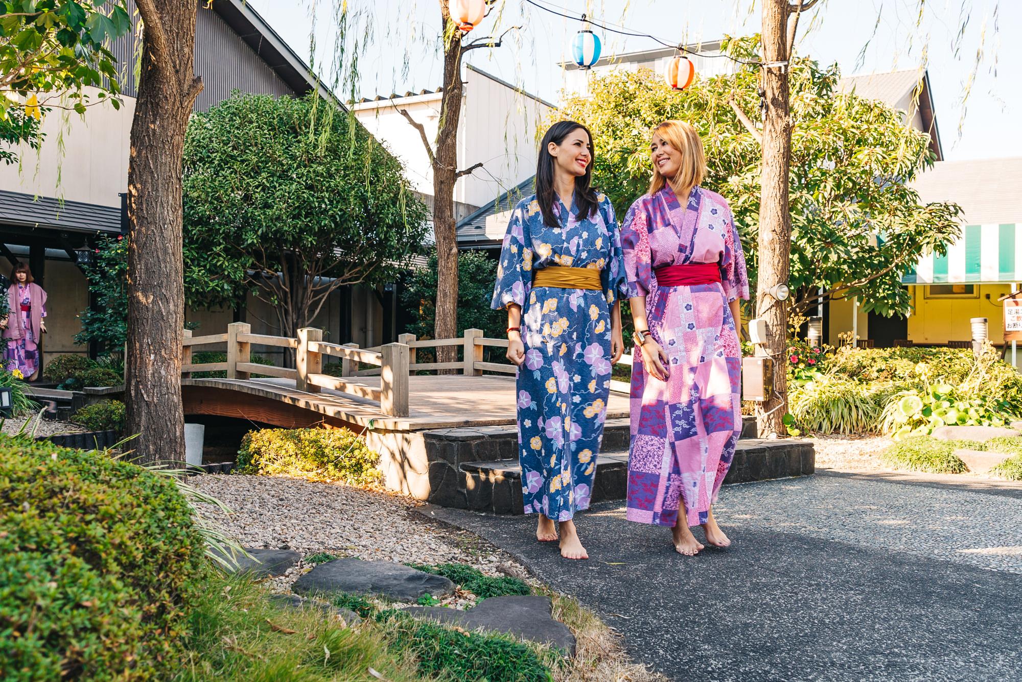 We really enjoyed wearing these cute yukatas