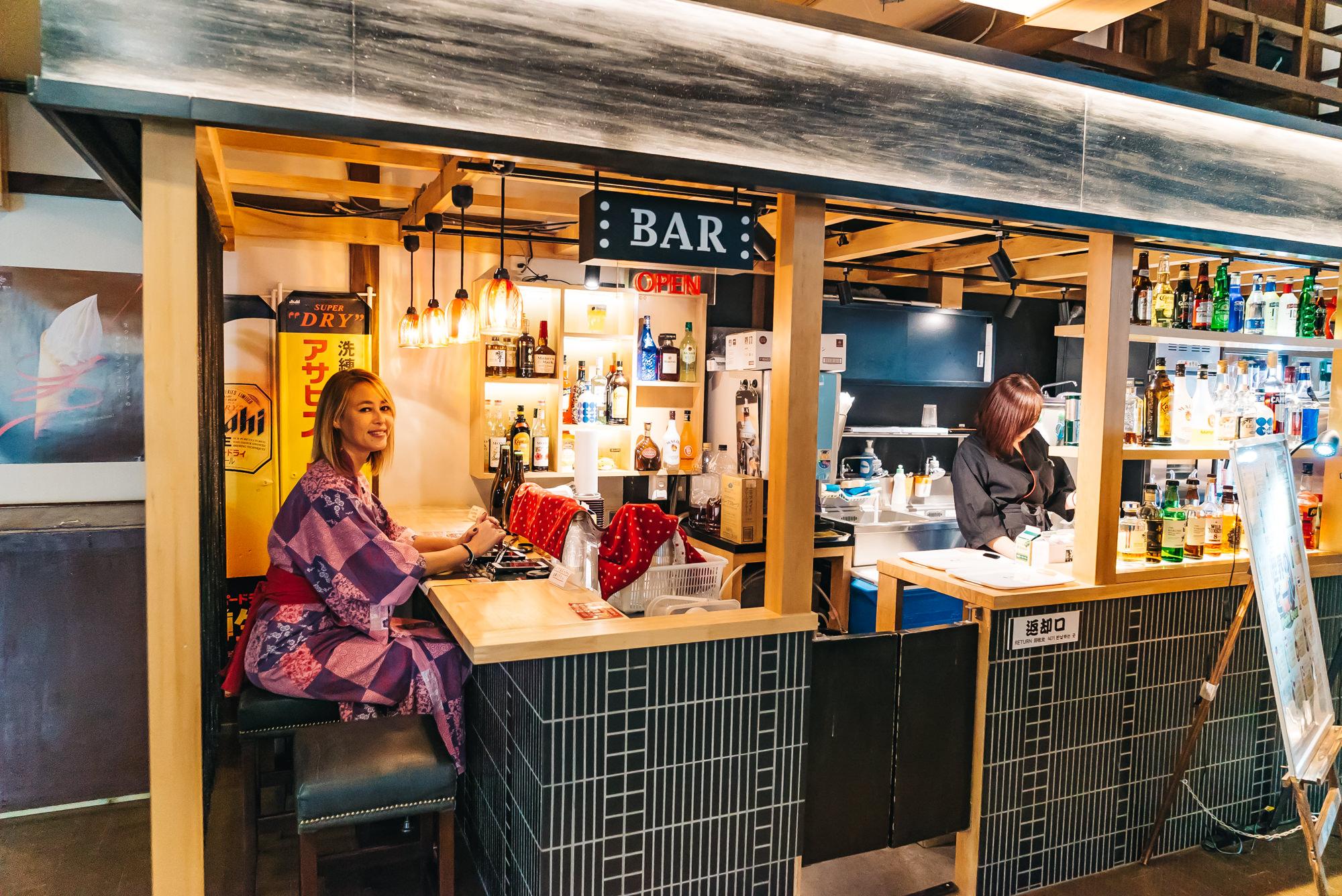 Cute little bar inside the Oedo Onsen theme park