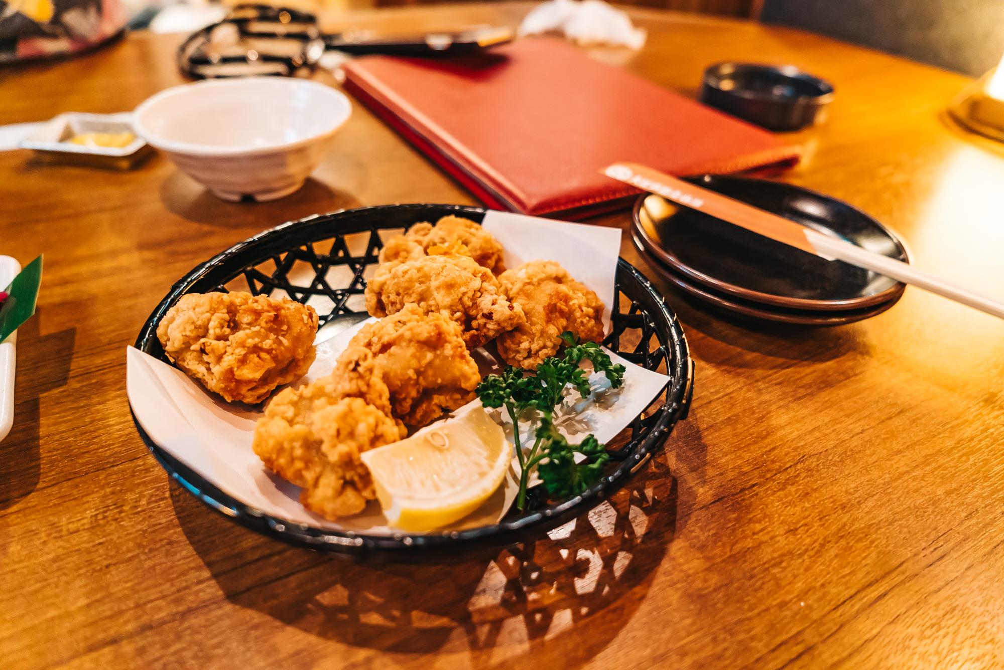 Delicious kara-age at the izakaya