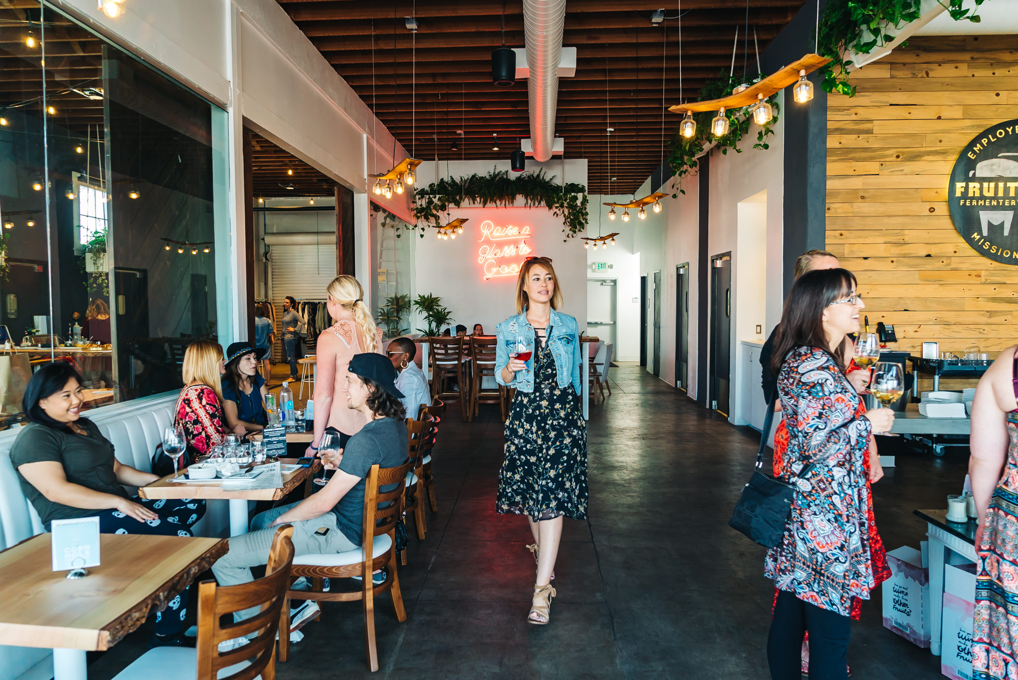 The lovely space at FruitCraft in Hillcrest, San Diego