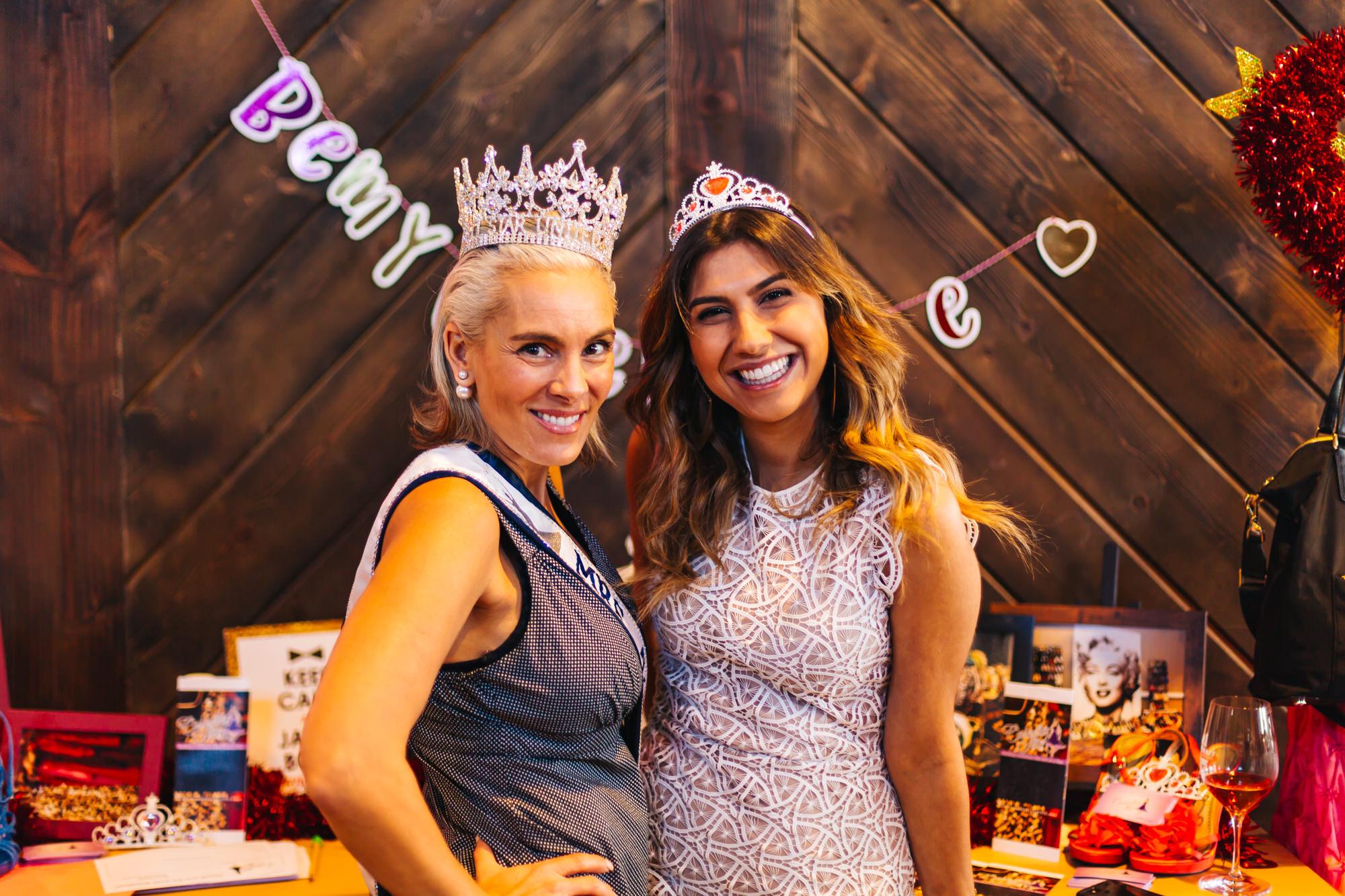 Abby Boretto, Mrs.California All-Star United States & Board member of Cinderella's Attic with Kayla Moshki, Board Member of Cinderella's Attic