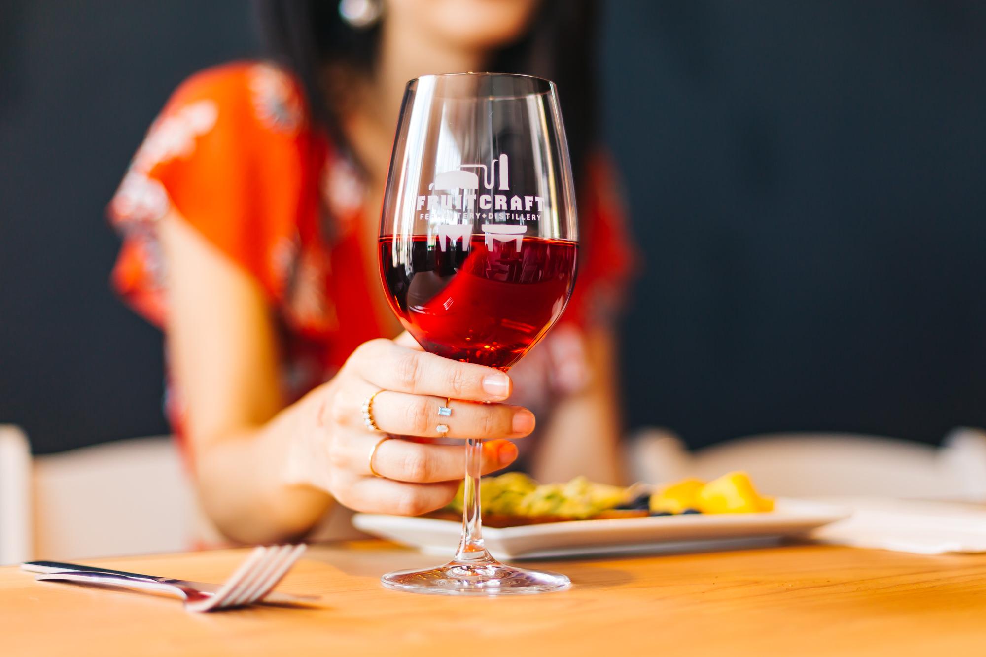 Delicious pomegranate wine