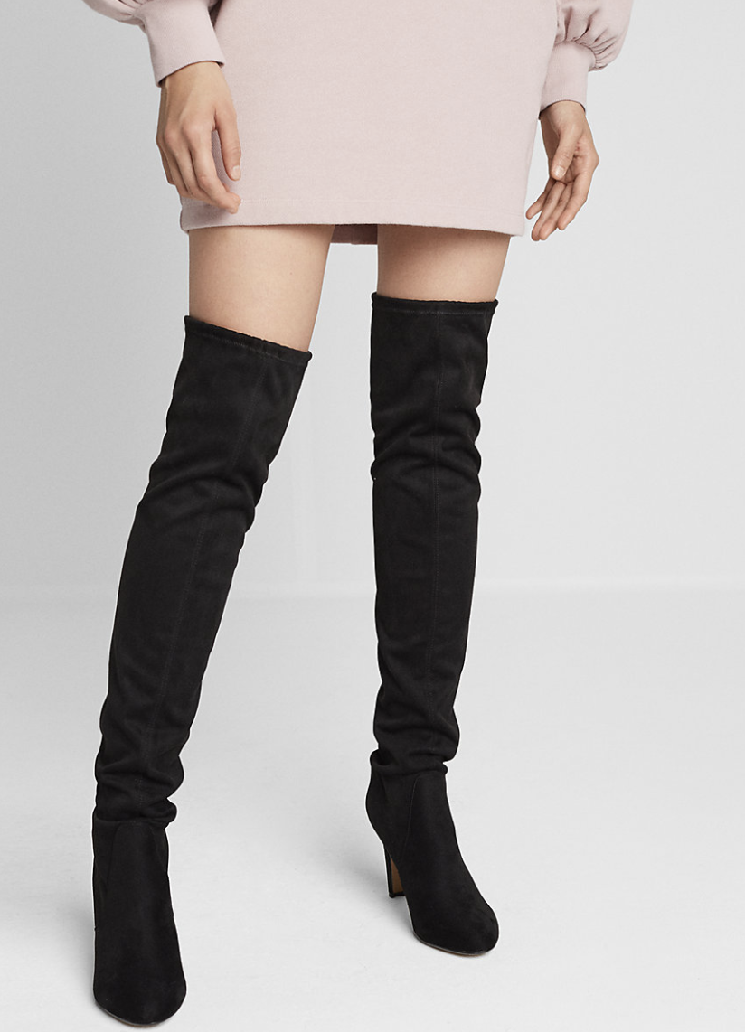 EXPRESS Thigh High Stretch Boots