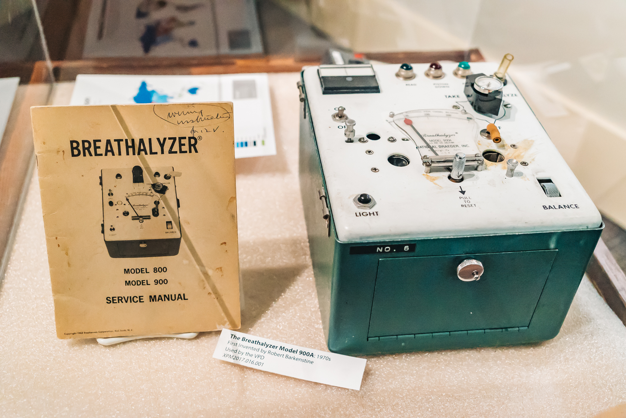 The breathalyzer back then was huge!