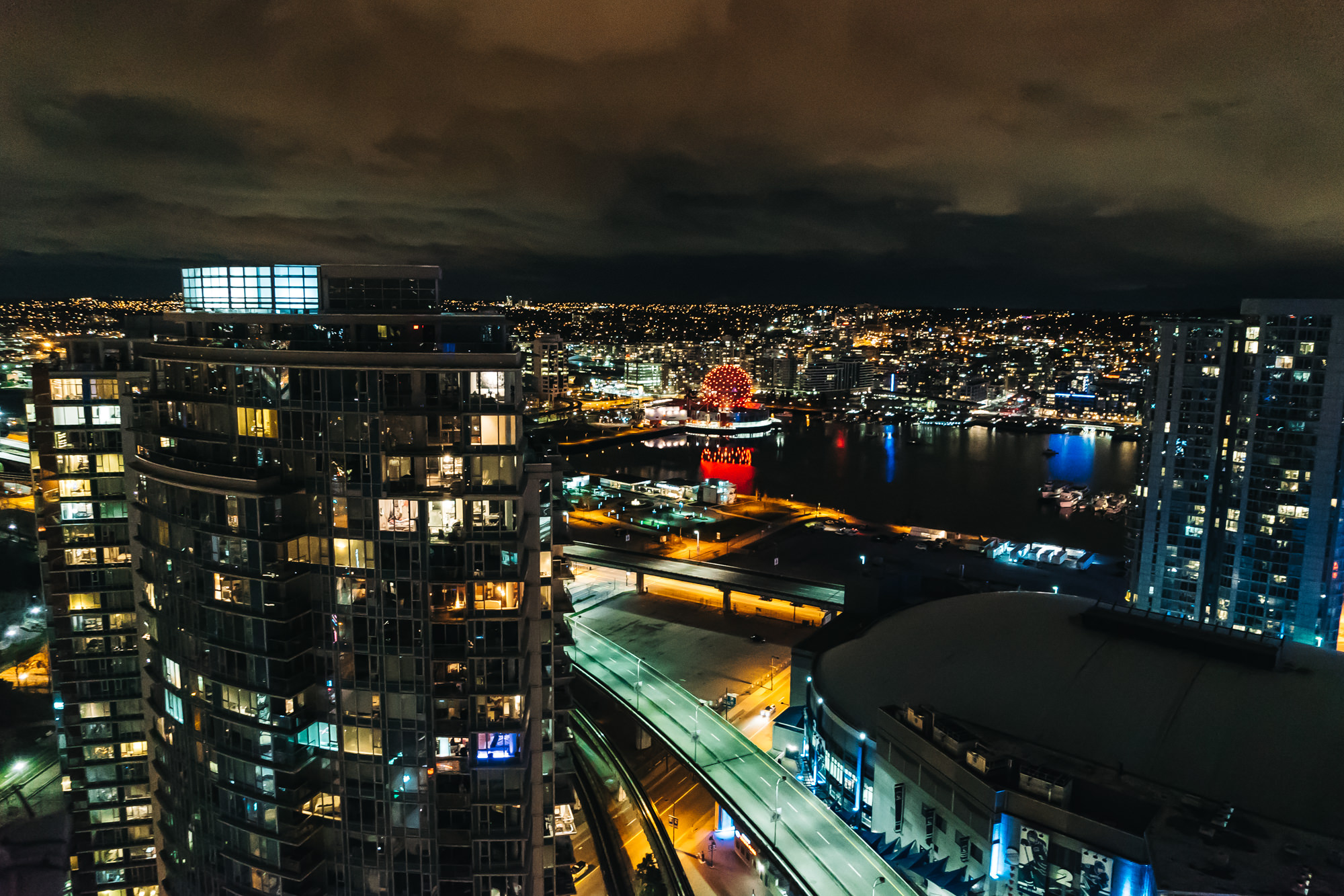 Glorious night views from our penthouse