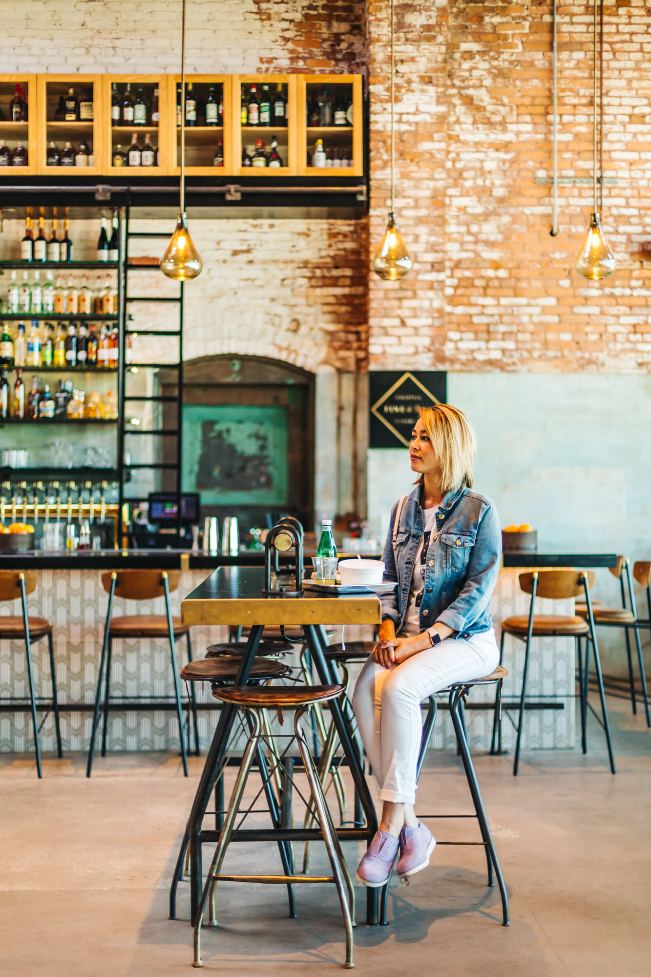 Armature Works communal tables in Tampa, Florida