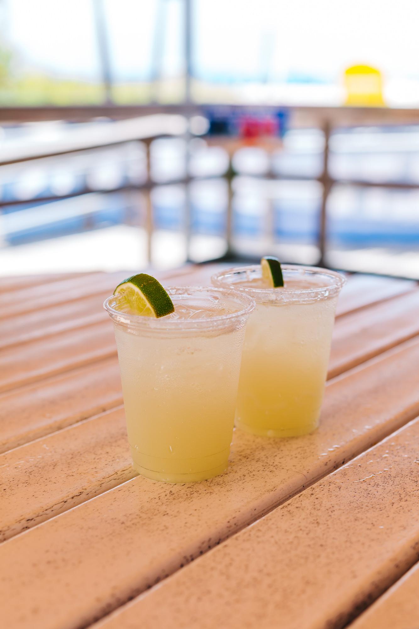 Yummy margaritas at the Beach Bar