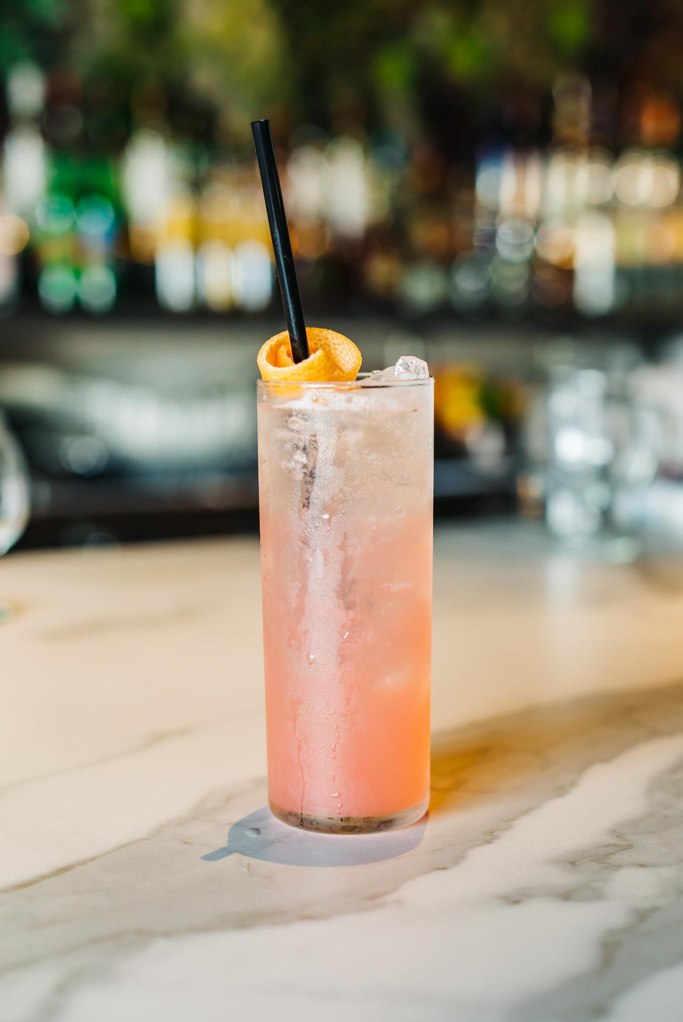 Refreshing O Paloma drink at O Cocina's in Tampa, Florida